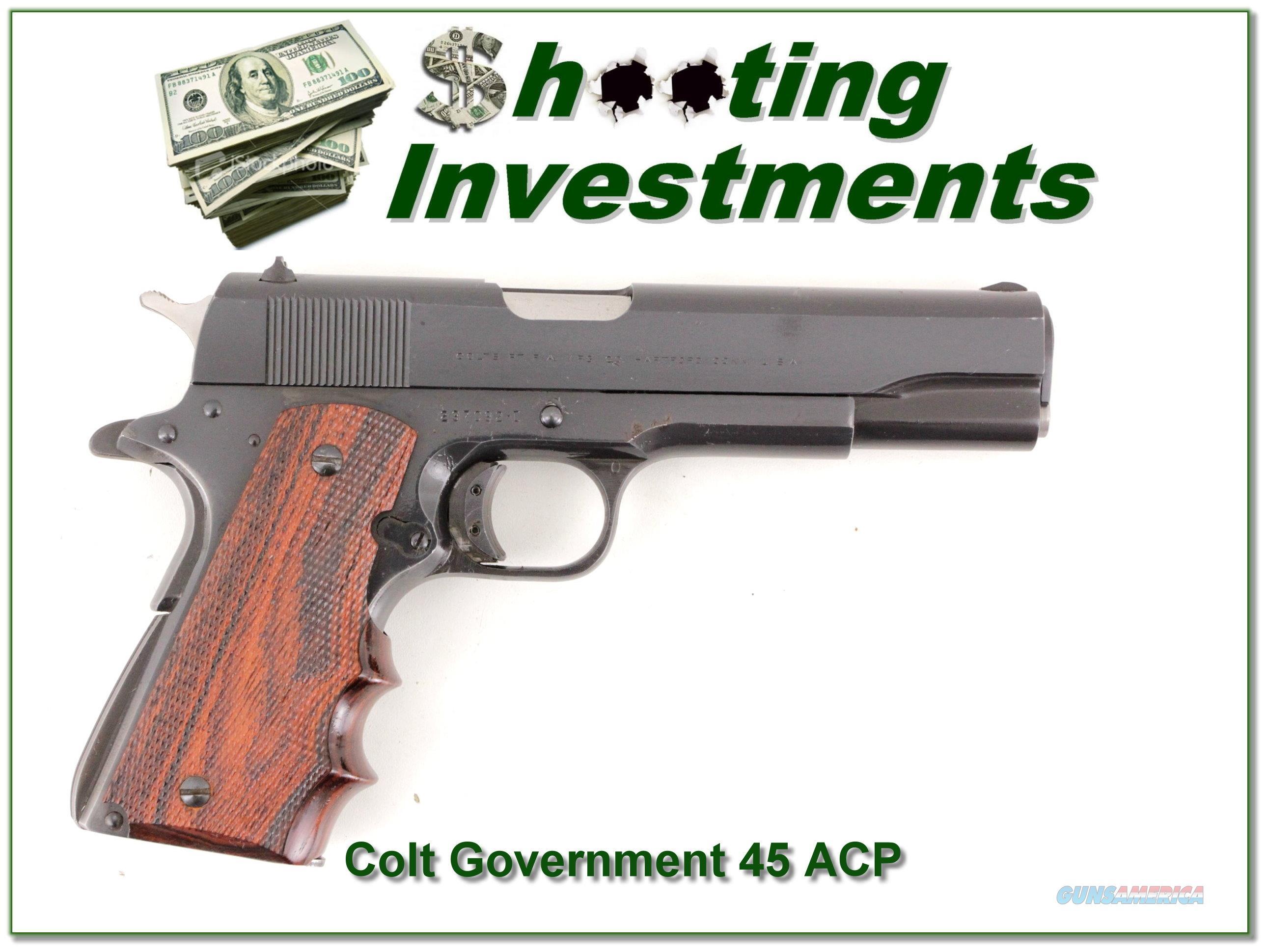 Colt Government 45 ACP  Guns > Pistols > Colt Automatic Pistols (1911 & Var)