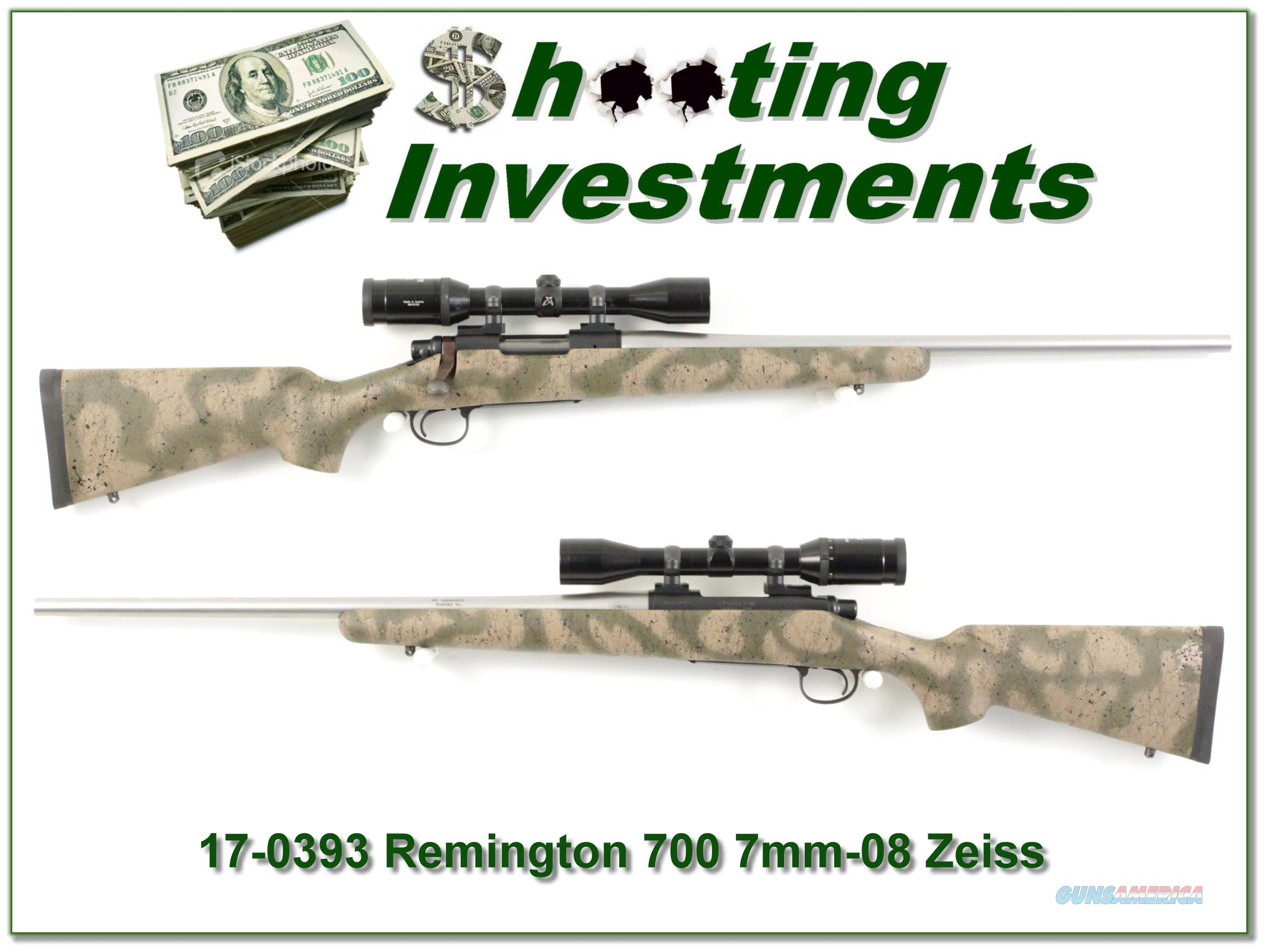 Remington 700 BDL 7mm-08 Custom w/ Swarovski!  Guns > Rifles > Remington Rifles - Modern > Model 700 > Sporting