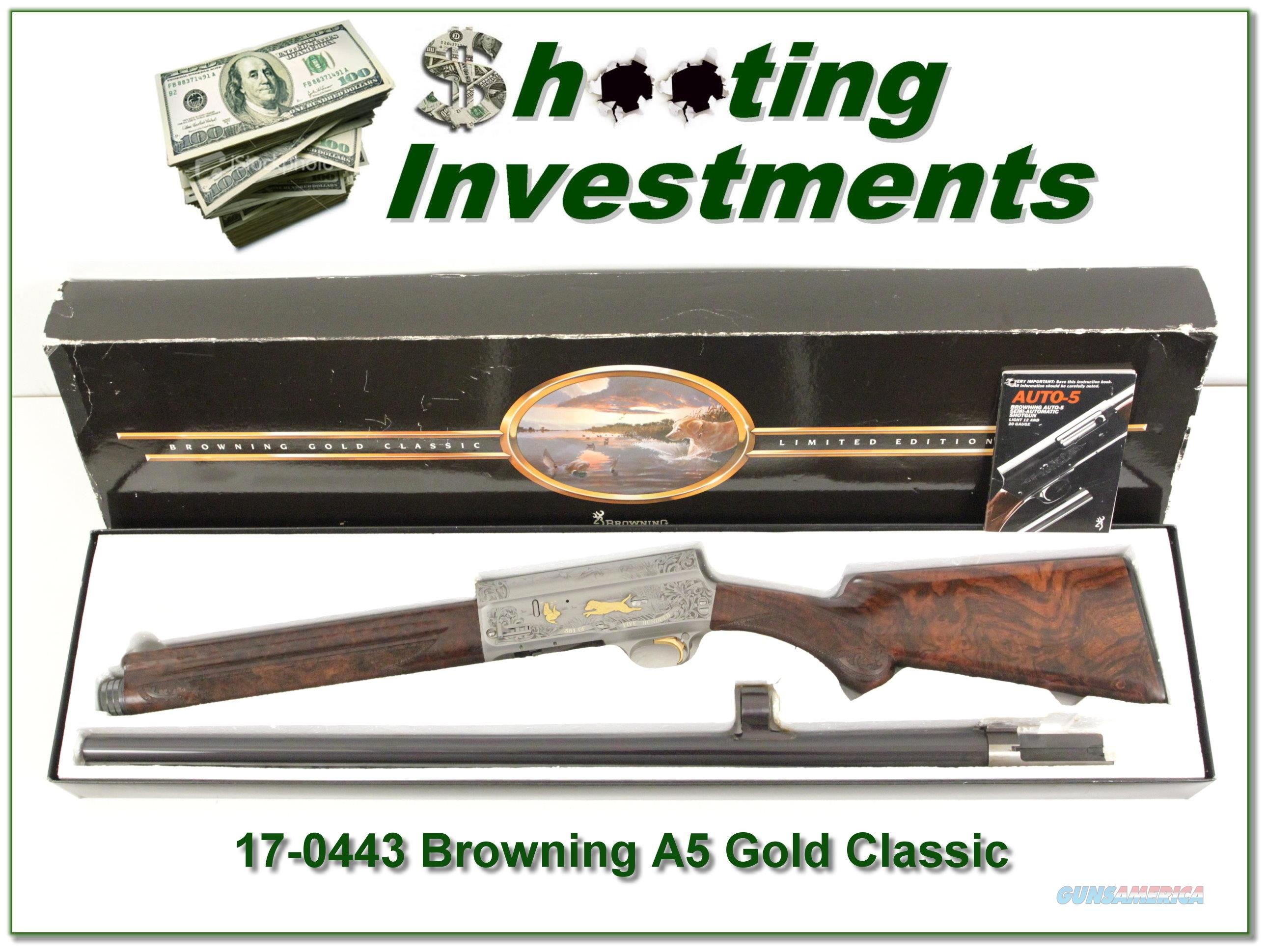 Browning A5 GOLD CLASSIC Belgium NIB XXX Wood!  Guns > Shotguns > Browning Shotguns > Autoloaders > Hunting