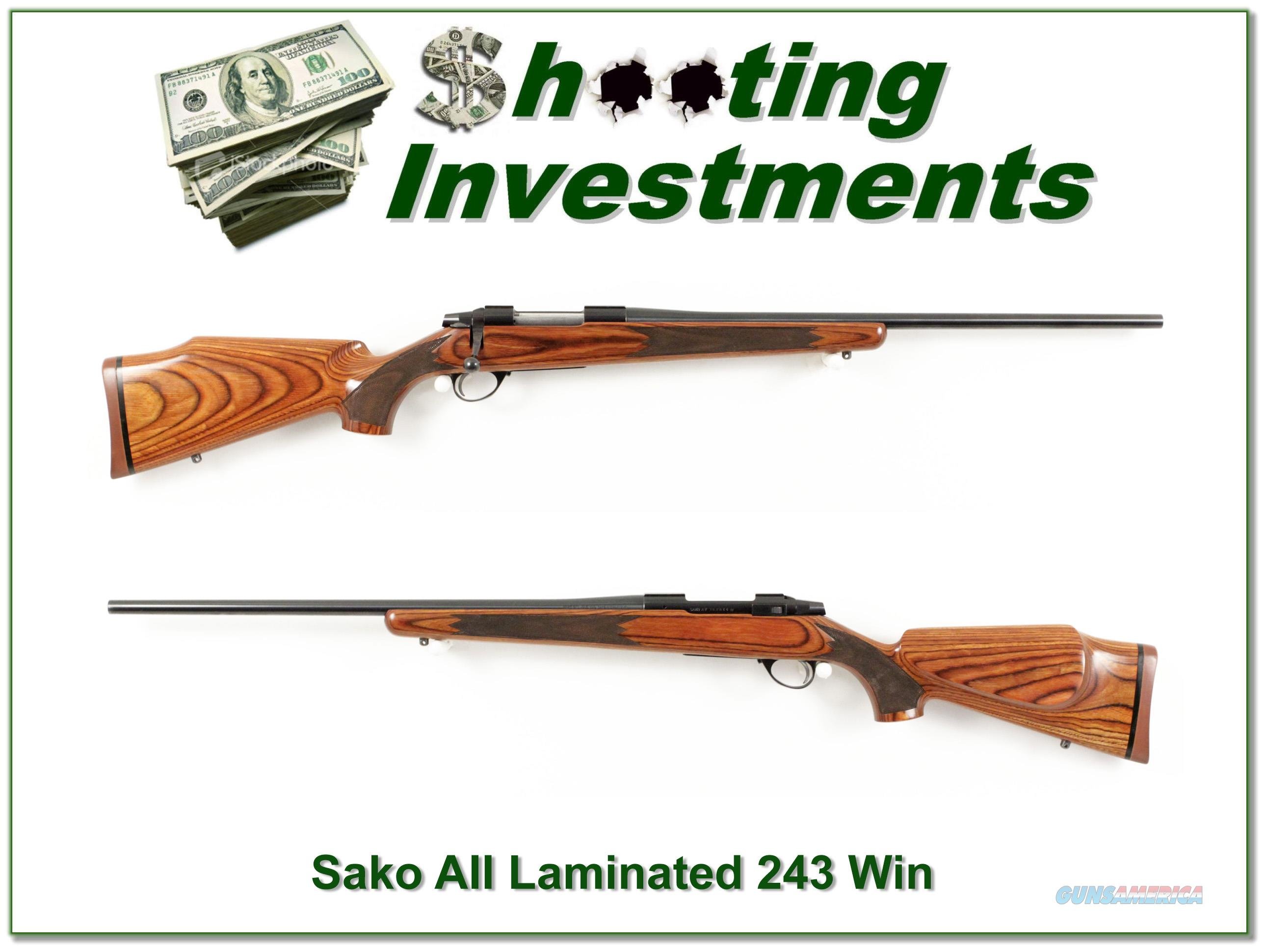 Sako AII Laminated 243 Win Exc Cond!  Guns > Rifles > Sako Rifles > Other Bolt Action
