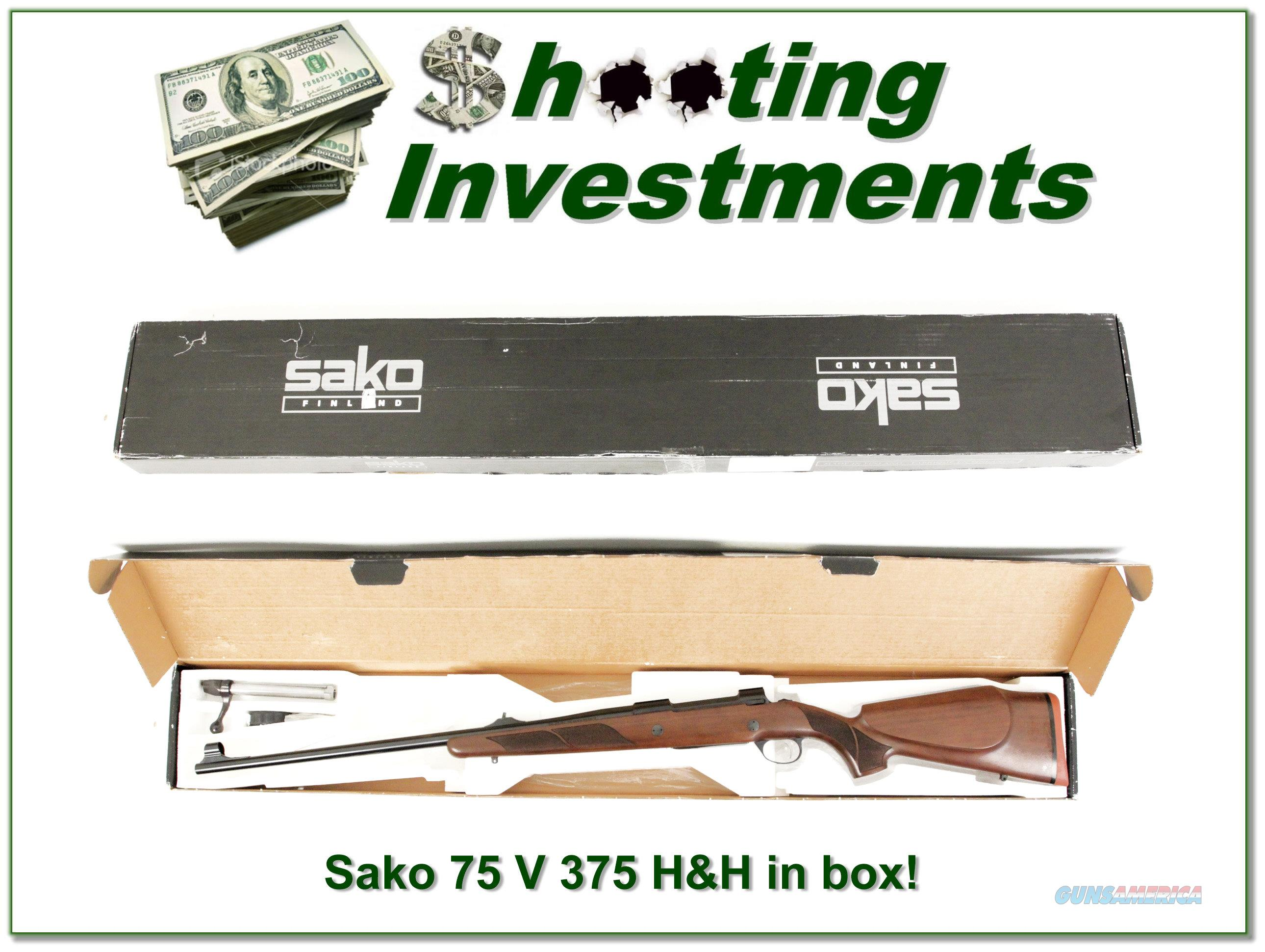 Sako 75 in 375 H&H near new in box!  Guns > Rifles > Sako Rifles > M75 Series