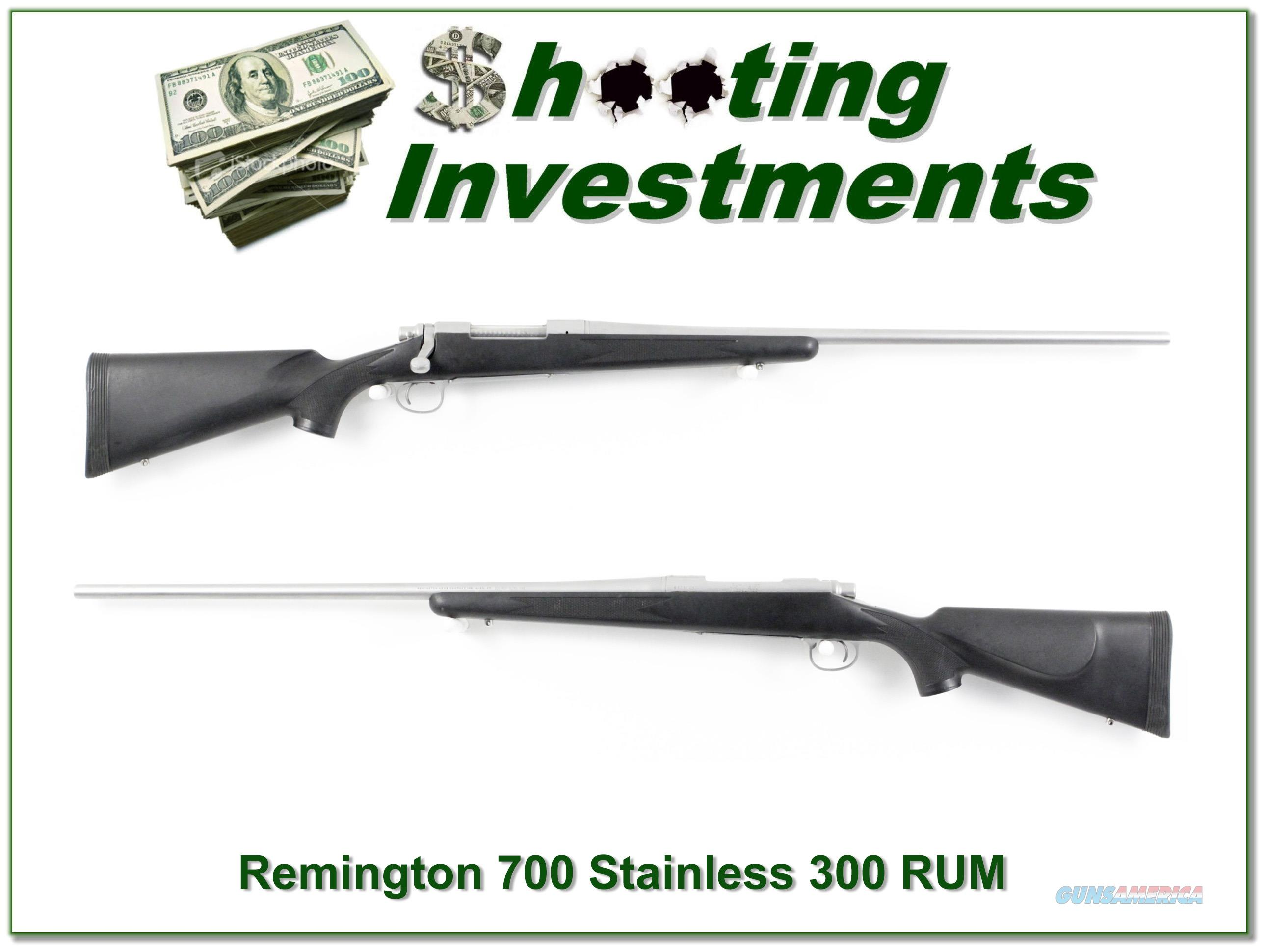 Remington 700 BDL Stainless 26in 300 RUM!  Guns > Rifles > Remington Rifles - Modern > Model 700 > Sporting