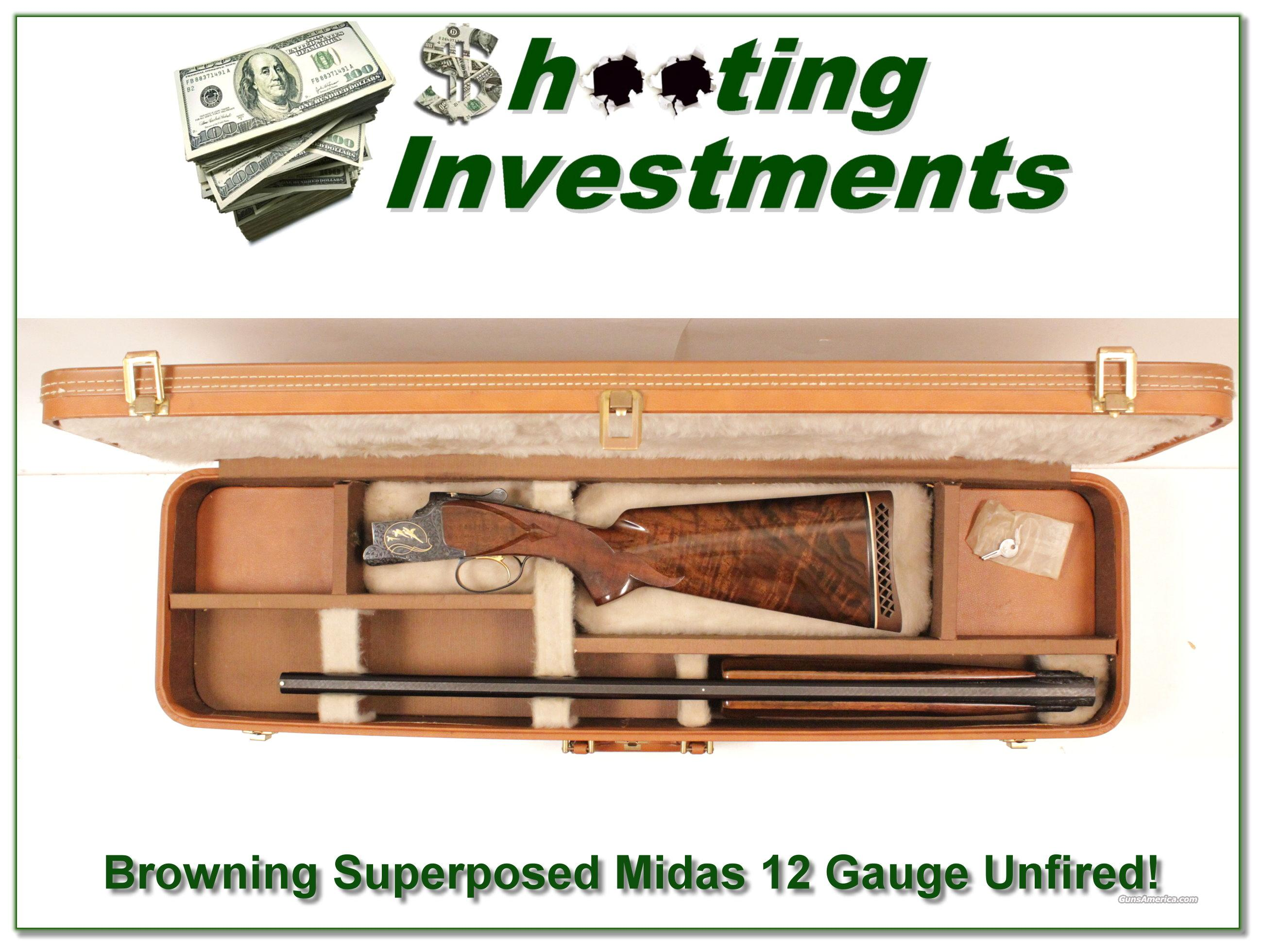 Browning Superposed Midas 12 Gauge Unfired!  Guns > Shotguns > Browning Shotguns > Over Unders > Other OU > Hunting