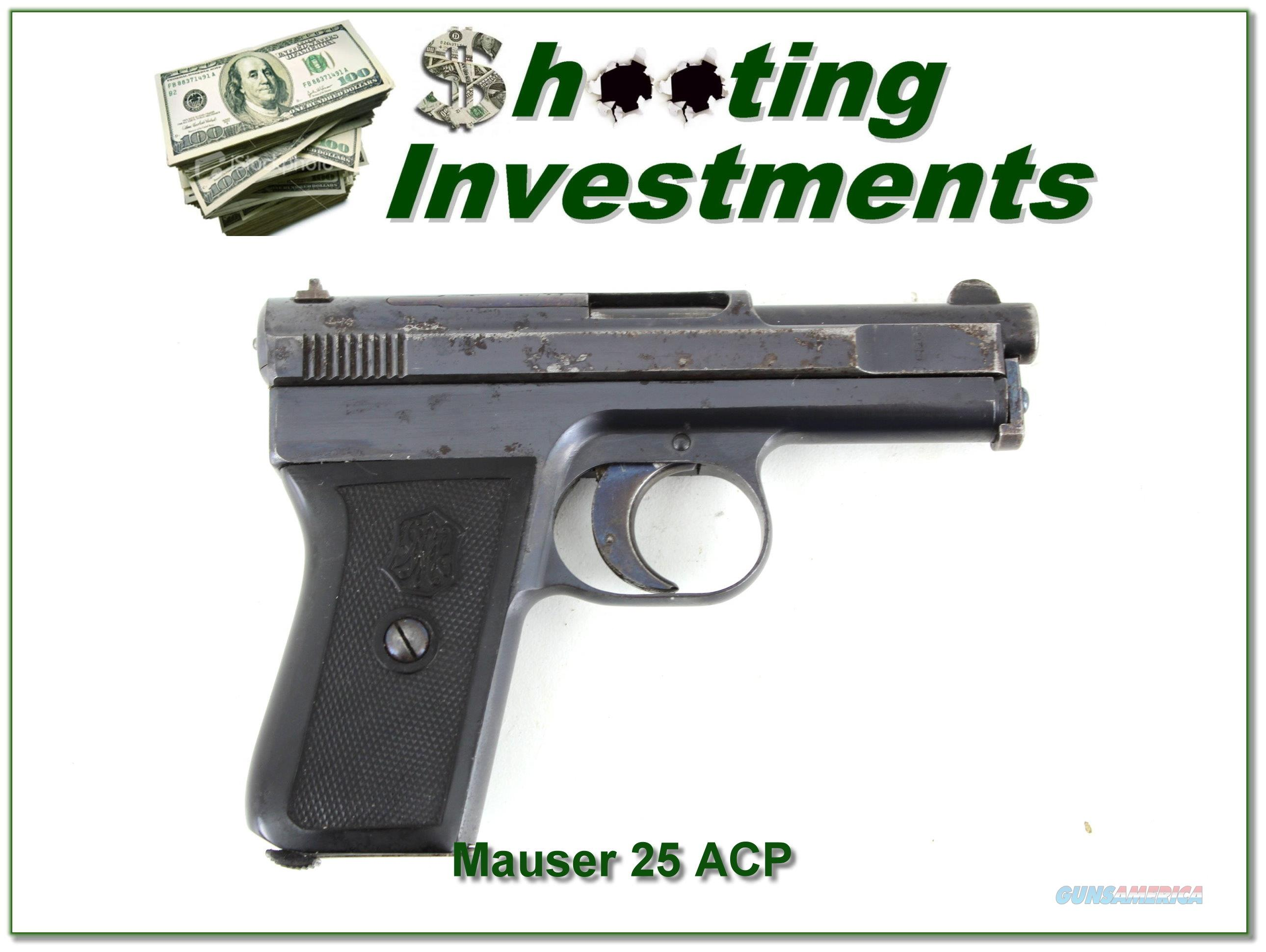 This is a FN Mauser 1910 in 25 ACP (or 6.35×16mm)  Guns > Pistols > Mauser Pistols