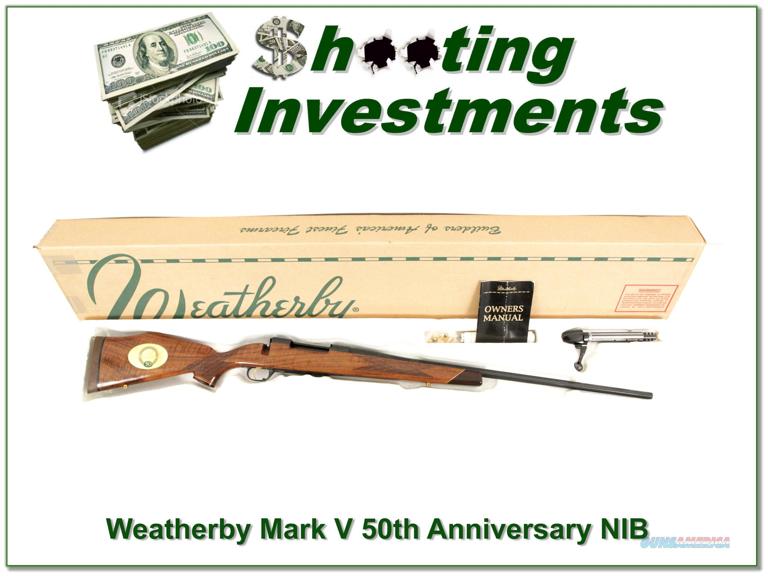 Weatherby Mark V 300 50th Anniversary 1995 NIB  Guns > Rifles > Weatherby Rifles > Sporting