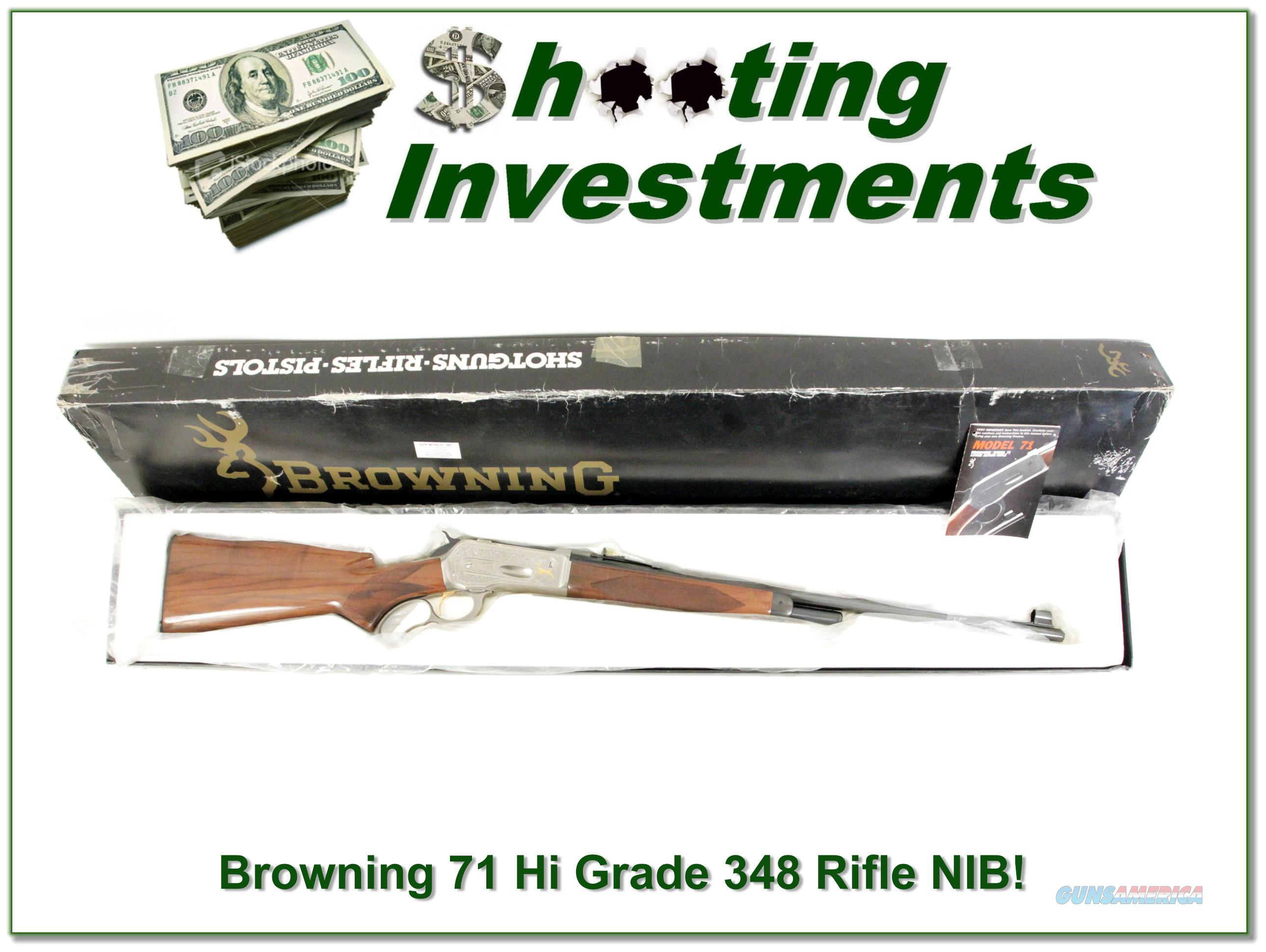 Browning Model 71 Rifle High Grade 348 Win new in box  Guns > Rifles > Browning Rifles > Lever Action