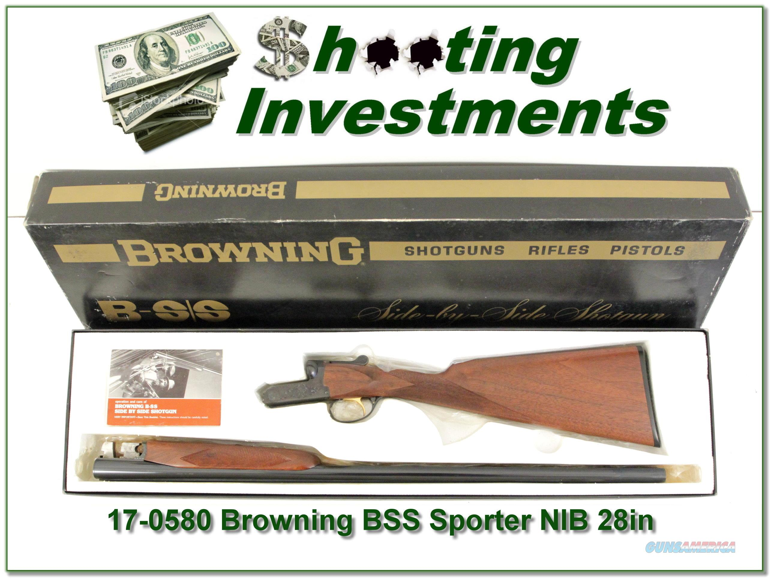 Browning BSS Sporter 20 Ga unfired in box!  Guns > Shotguns > Browning Shotguns > Side by Sides