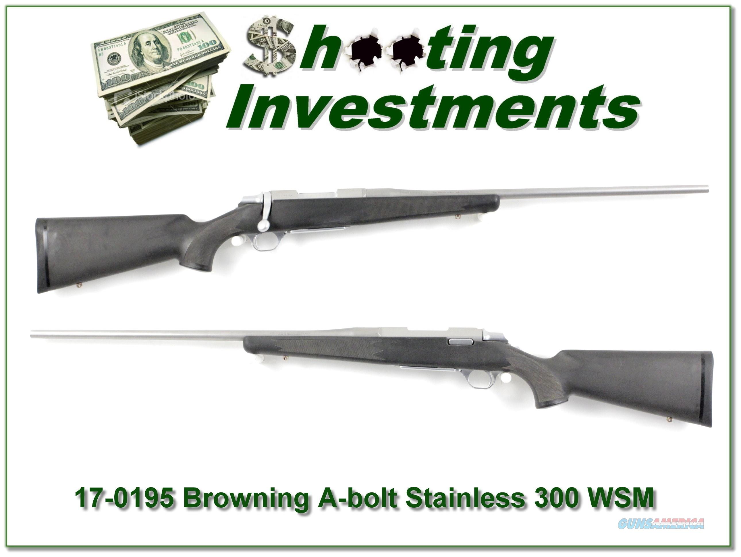 Browning A-bolt II Stainless Stalker 23in 300 WSM Mag  Guns > Rifles > Browning Rifles > Bolt Action > Hunting > Stainless
