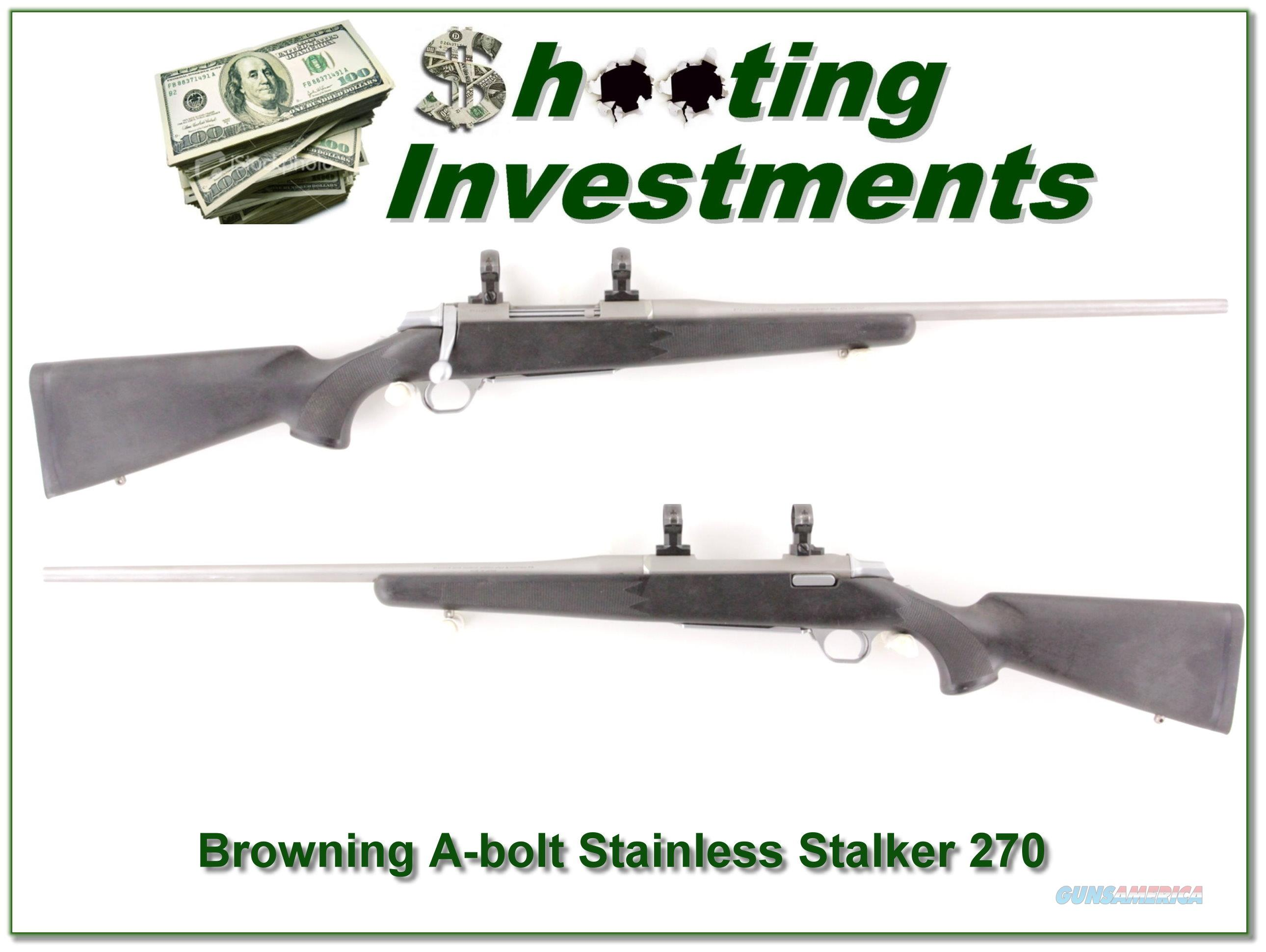 Browning A-Bolt Stainless Stalker 270 Win  Guns > Rifles > Browning Rifles > Bolt Action > Hunting > Stainless