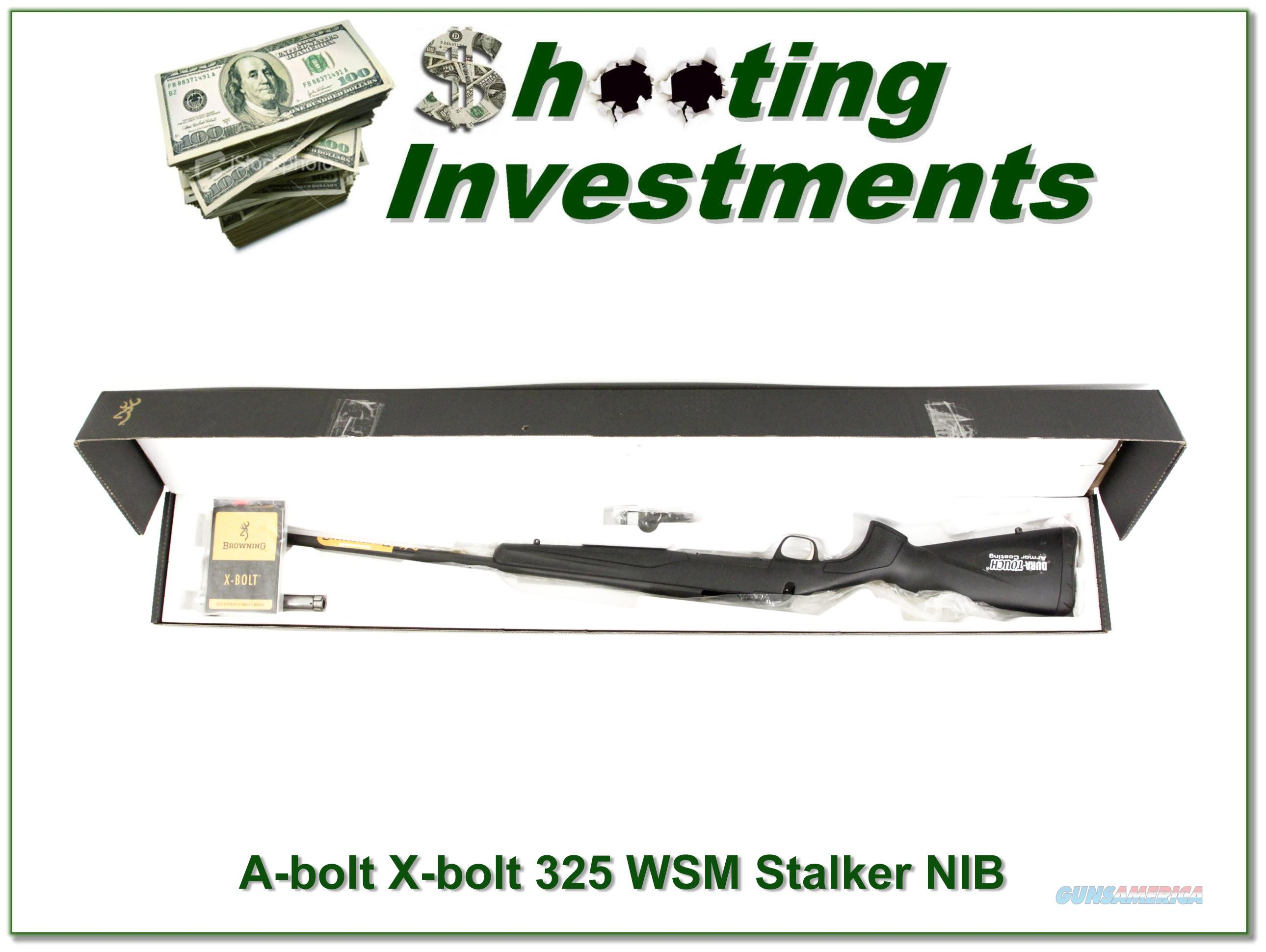 Browning X-Bolt Stalker 325 WSM ANIB!  Guns > Rifles > Browning Rifles > Bolt Action > Hunting > Stainless