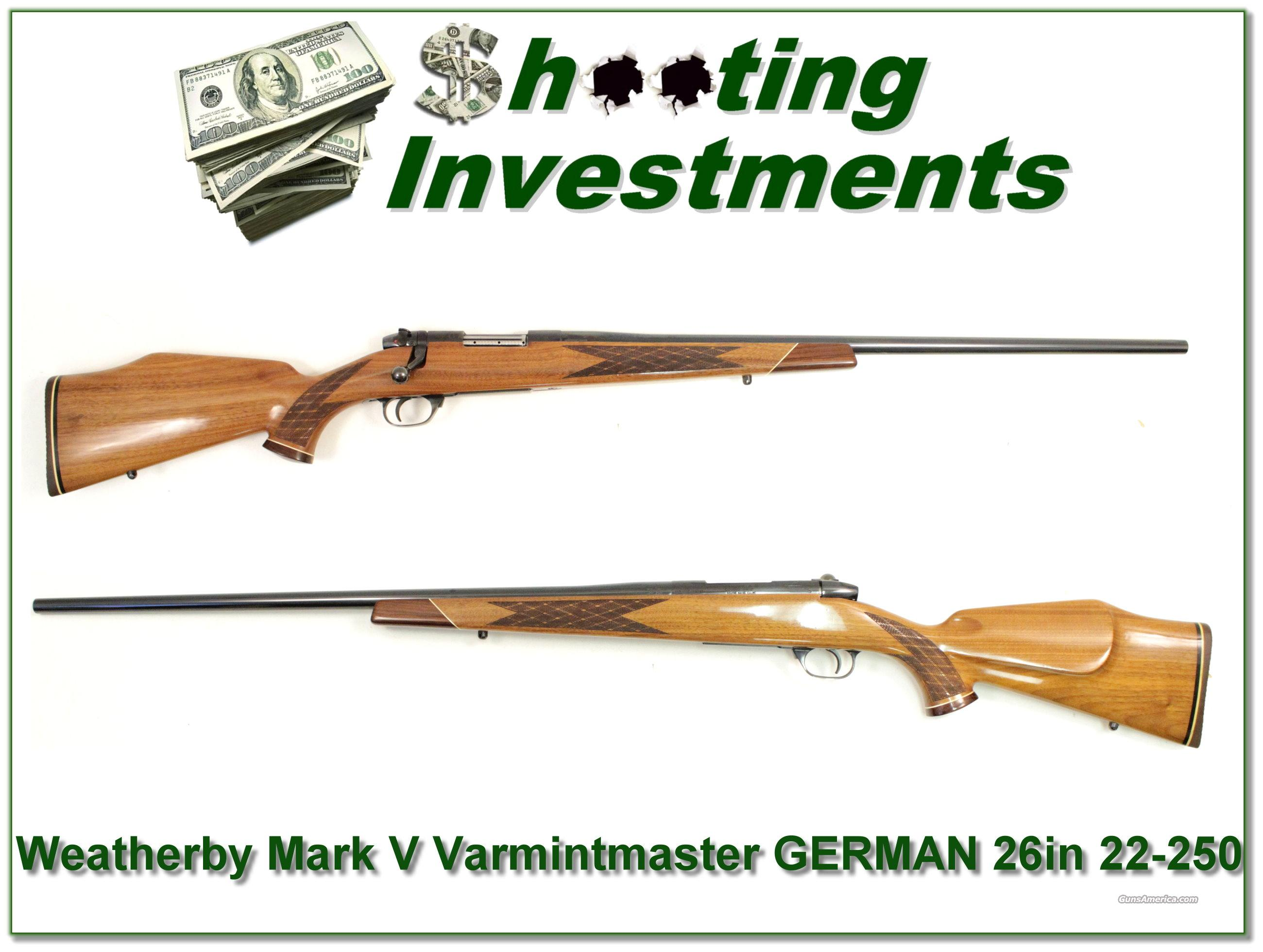 Weatherby Mark V Varmintmaster First Year German 26in!  Guns > Rifles > Weatherby Rifles > Sporting