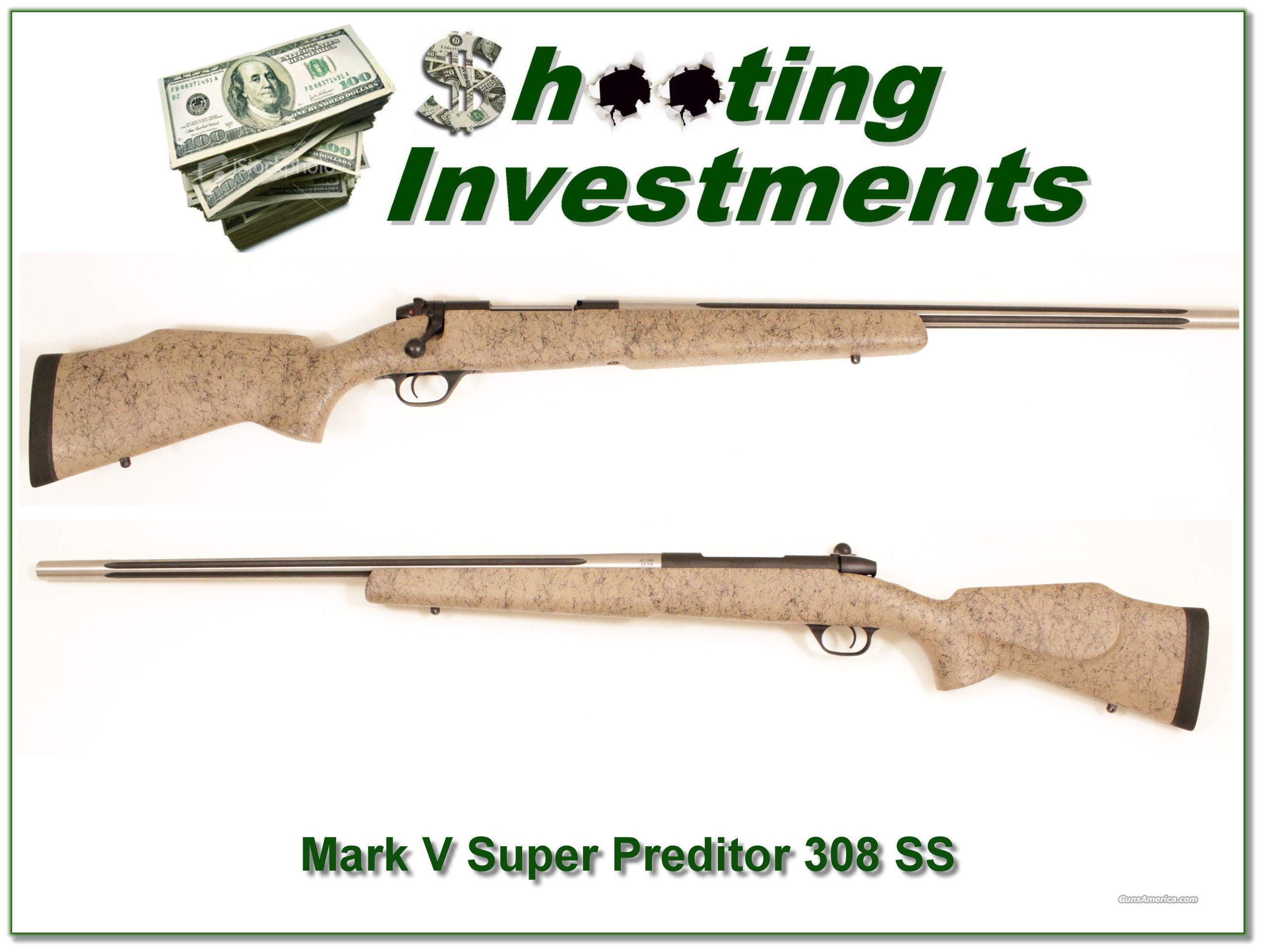Weatherby Mark V Super Varmint Master 308 Single Shot!  Guns > Rifles > Weatherby Rifles > Sporting