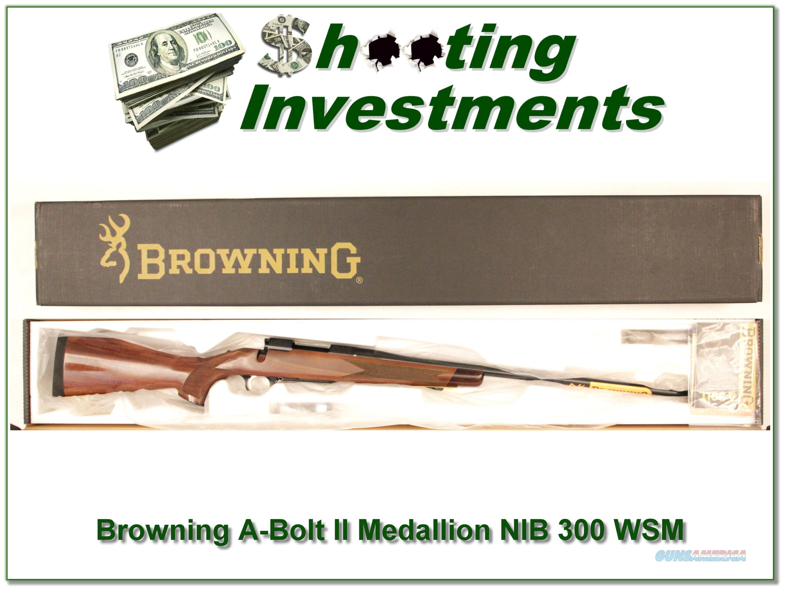 Browning A-bolt II Medallion 300 WSM last ones!  Guns > Rifles > Browning Rifles > Bolt Action > Hunting > Blue