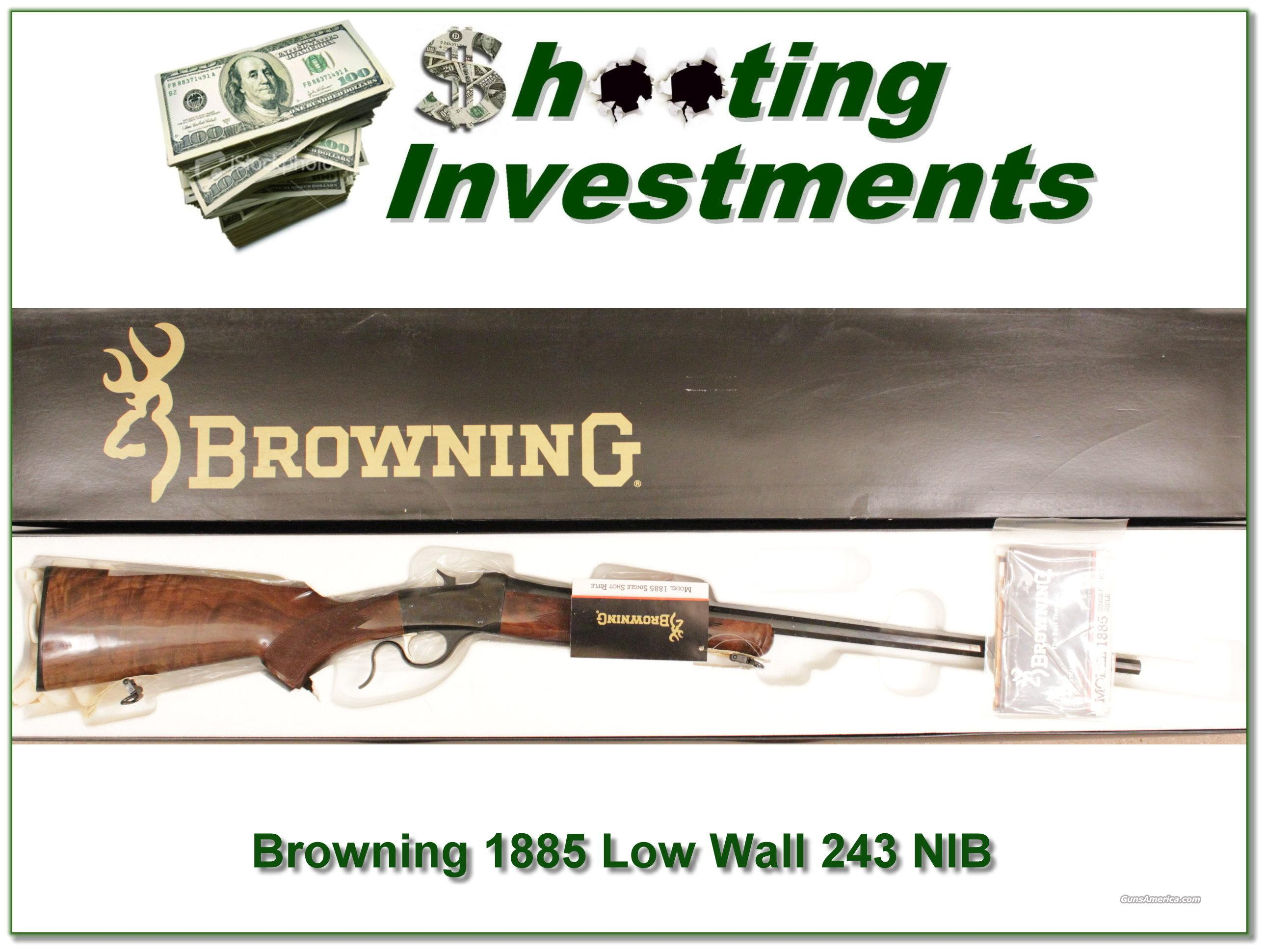 Browning 1885 Low Wall 243 New in Box!  Guns > Rifles > Browning Rifles > Singe Shot