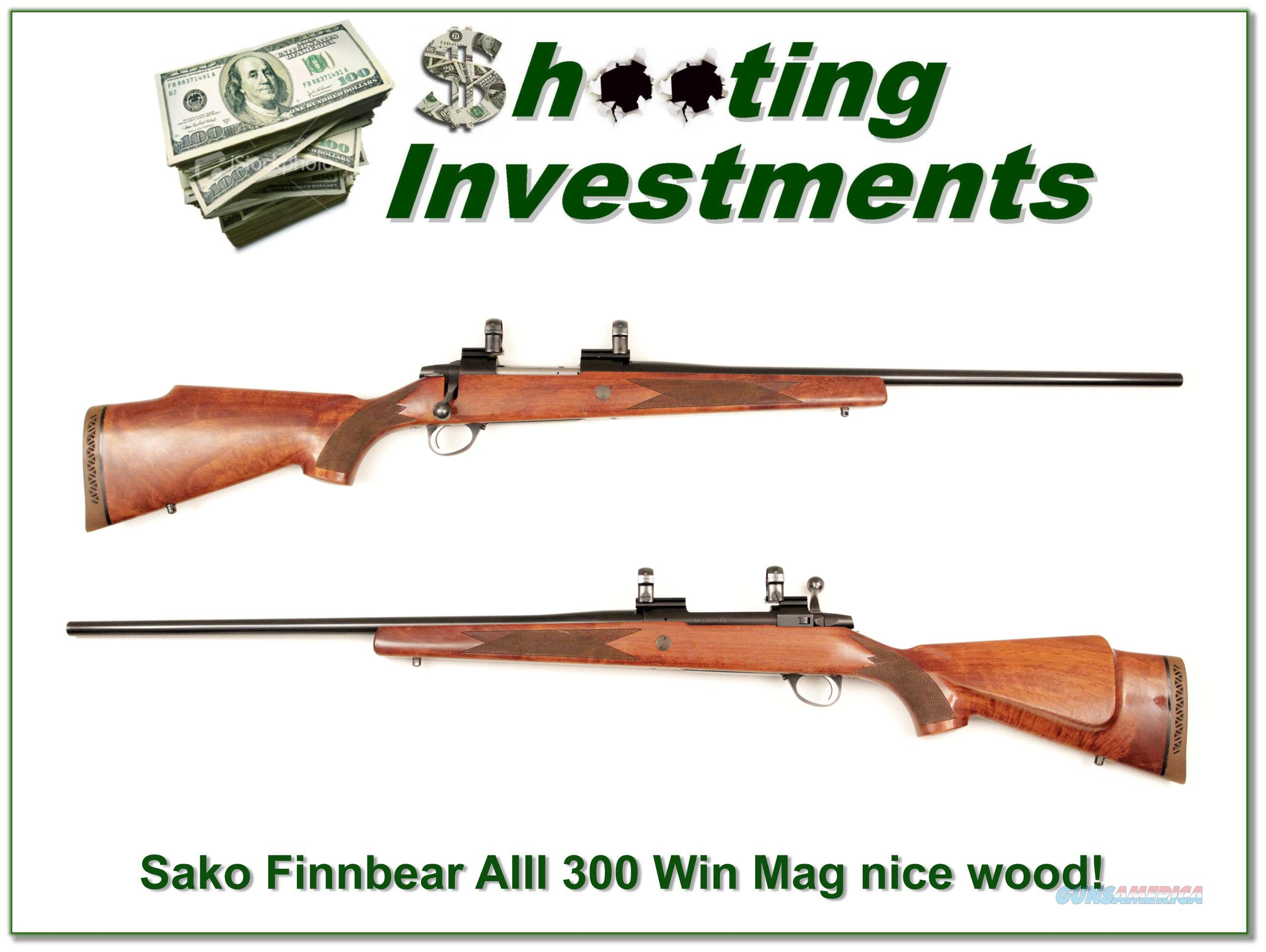 Sako AIII 300 Winchester Magnum  Guns > Rifles > Sako Rifles > Other Bolt Action