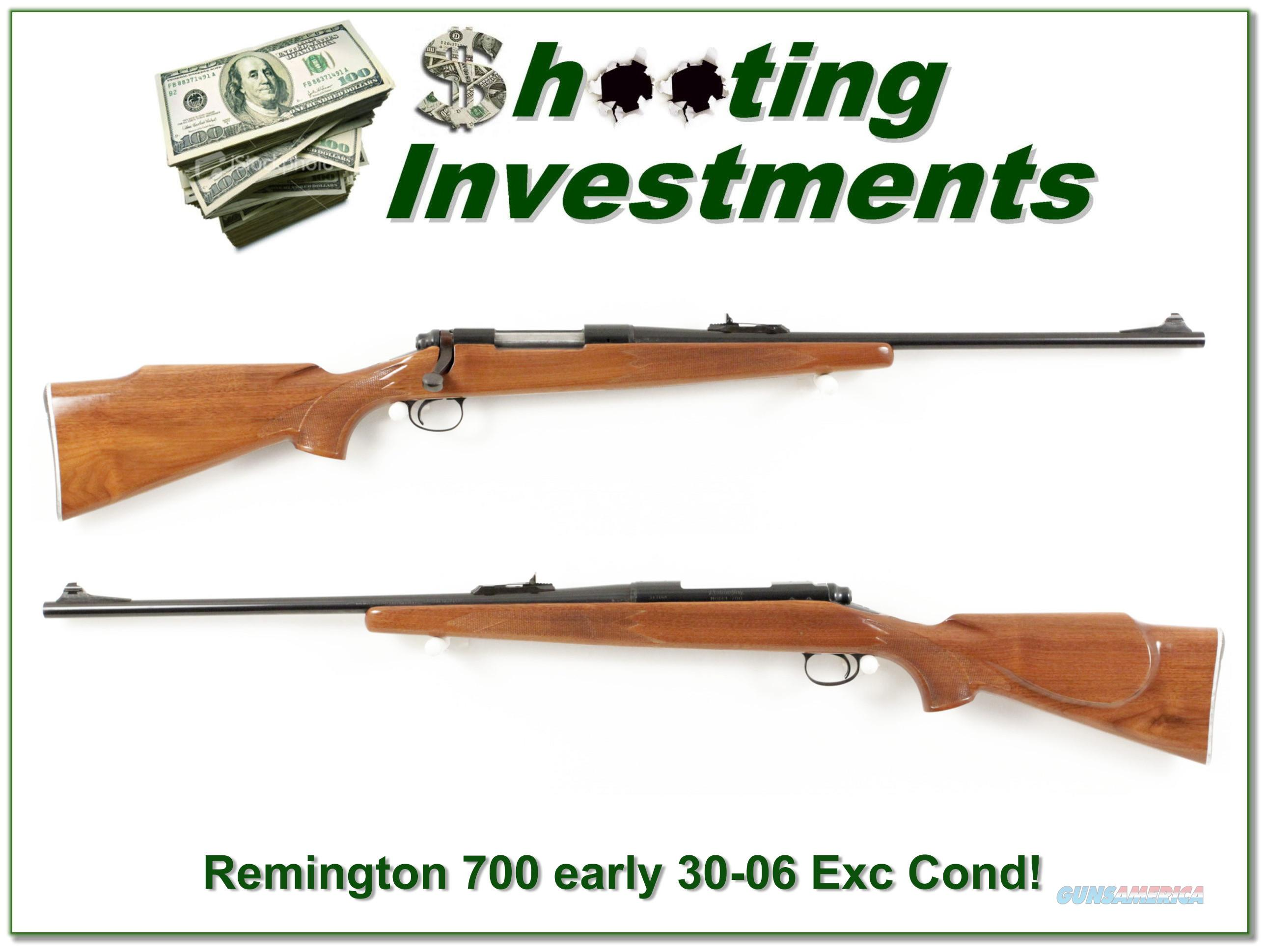 Early Remington 700 ADL 30-06 Pressed Checkering Exc Cond!  Guns > Rifles > Remington Rifles - Modern > Model 700 > Sporting