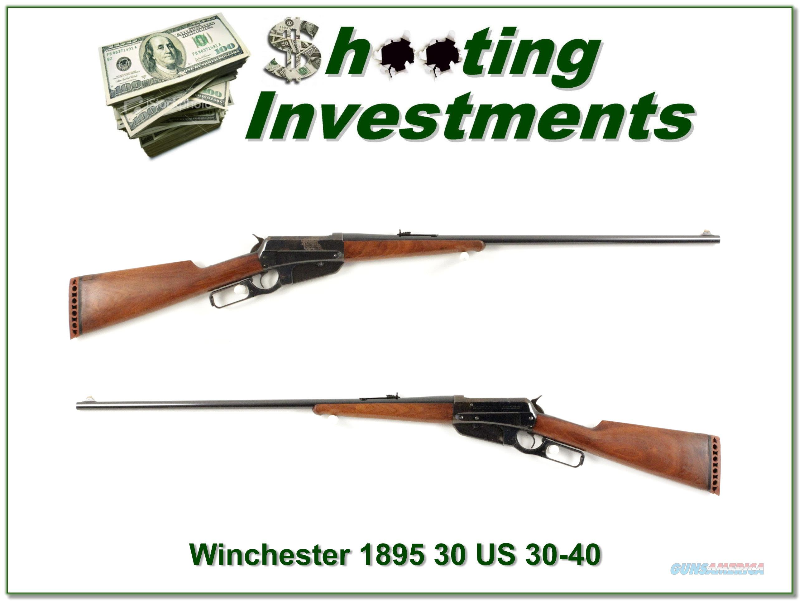 Winchester 1895 30 US made in 1900 (30-40 Krag)  Guns > Rifles > Winchester Rifles - Pre-1899 Lever