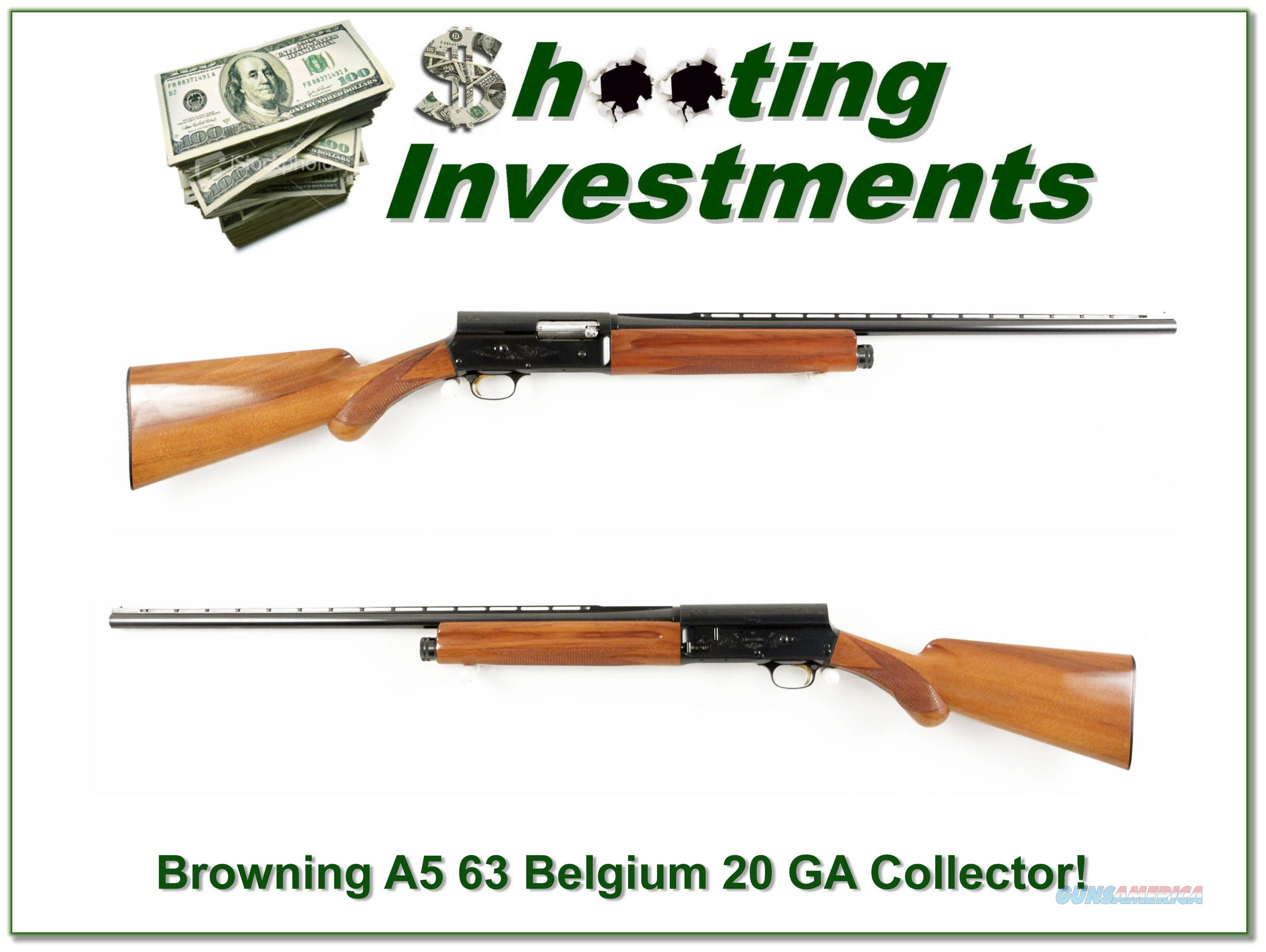 Browning A5 20 Gauge 63 Belgium Blond collector looks unfired!  Guns > Shotguns > Browning Shotguns > Autoloaders > Hunting