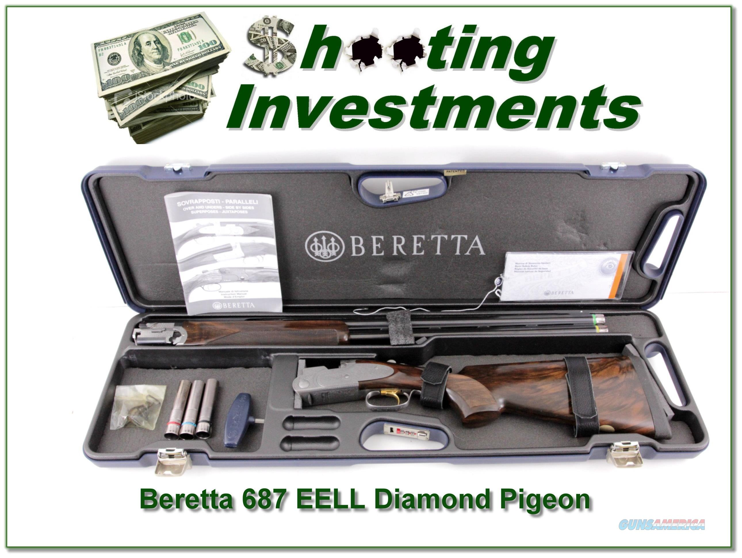 Beretta S 687 EELL Diamond Pigeon 12 Ga ANIC!  Guns > Shotguns > Beretta Shotguns > O/U > Hunting