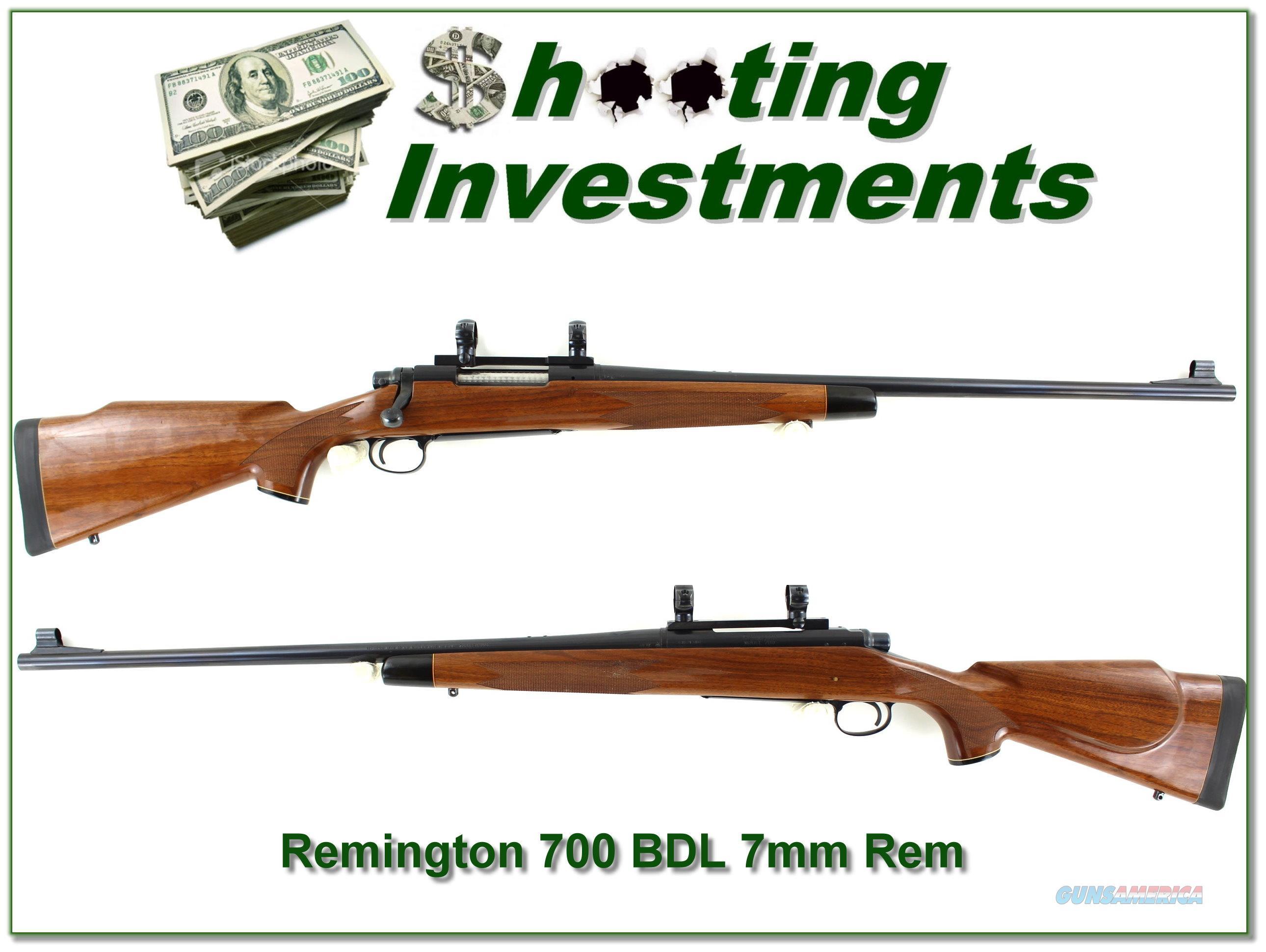 Remington 700 BDL earlier 7mm Rem Mag about new!  Guns > Rifles > Remington Rifles - Modern > Model 700 > Sporting