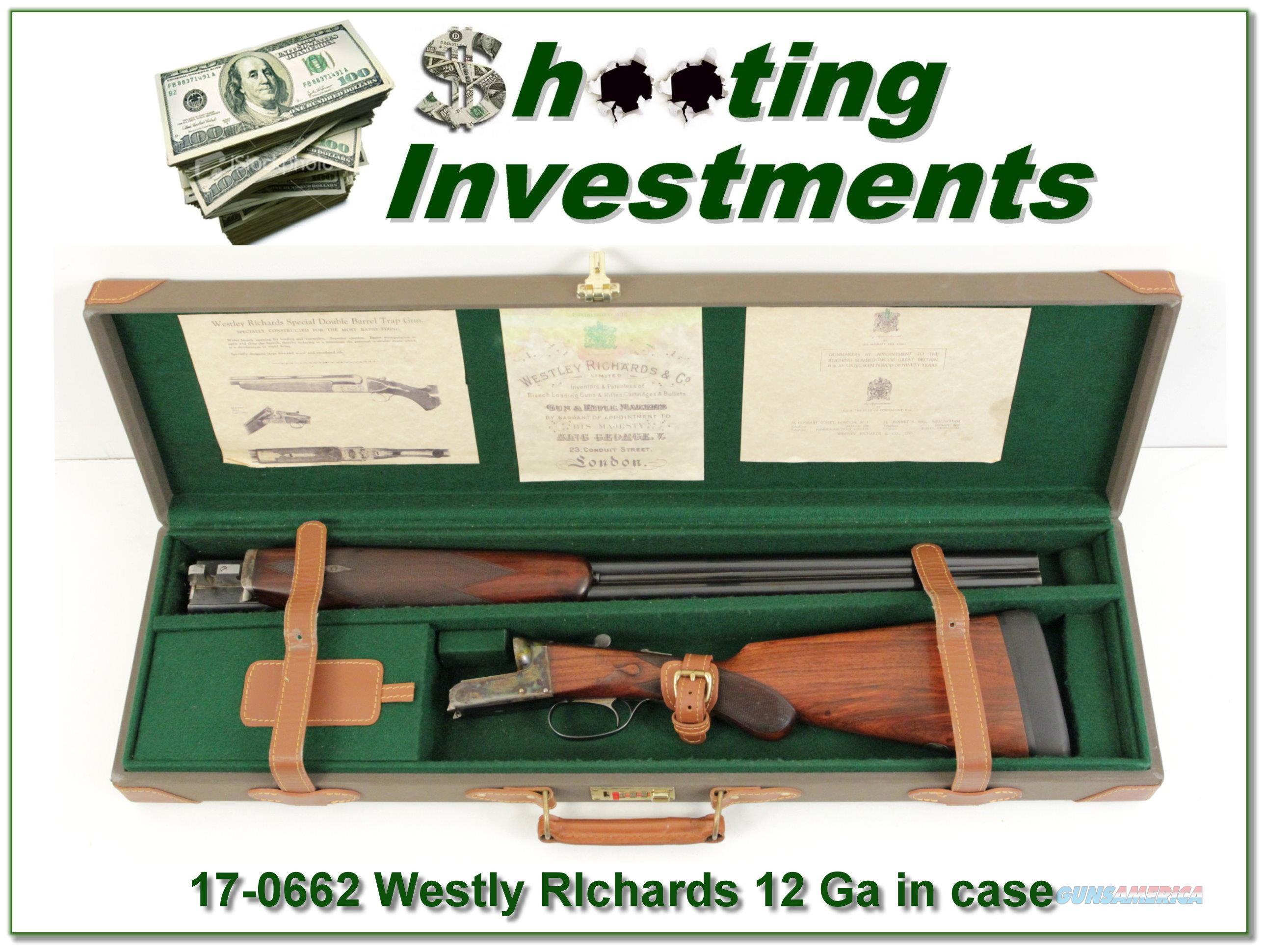 Westley Richards 12 Gauge Exc Cond in case  Guns > Shotguns > Westley Richards Shotguns