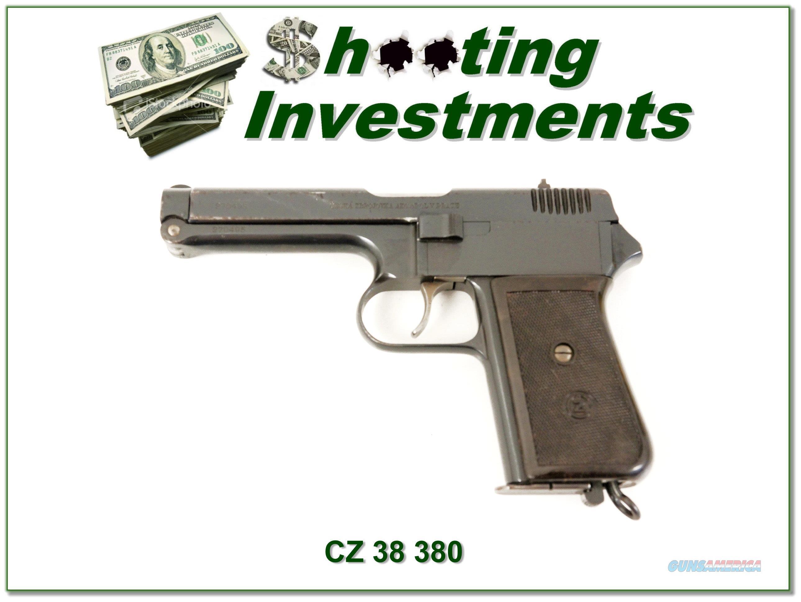 Czech CZ WWII 380 ACP  Guns > Pistols > CZ Pistols