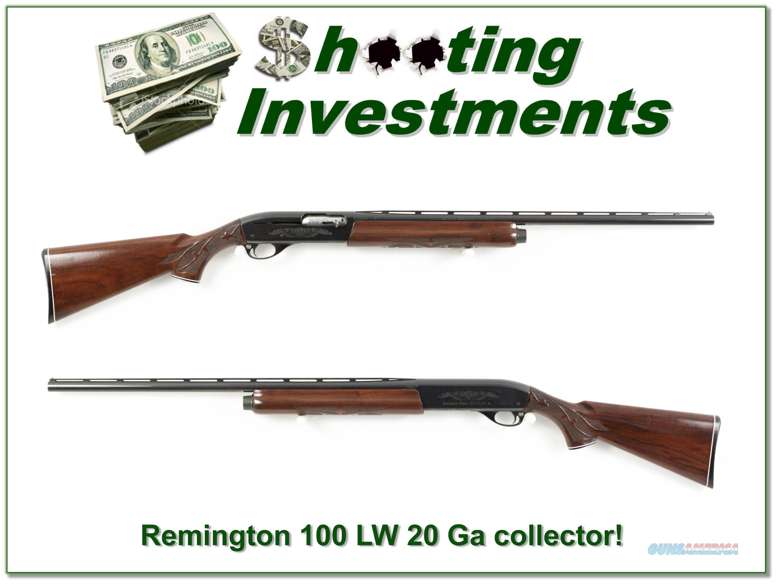 Remington 1100 LT-20 20 Gauge Vent Rib Exc Cond!  Guns > Shotguns > Remington Shotguns  > Autoloaders > Hunting