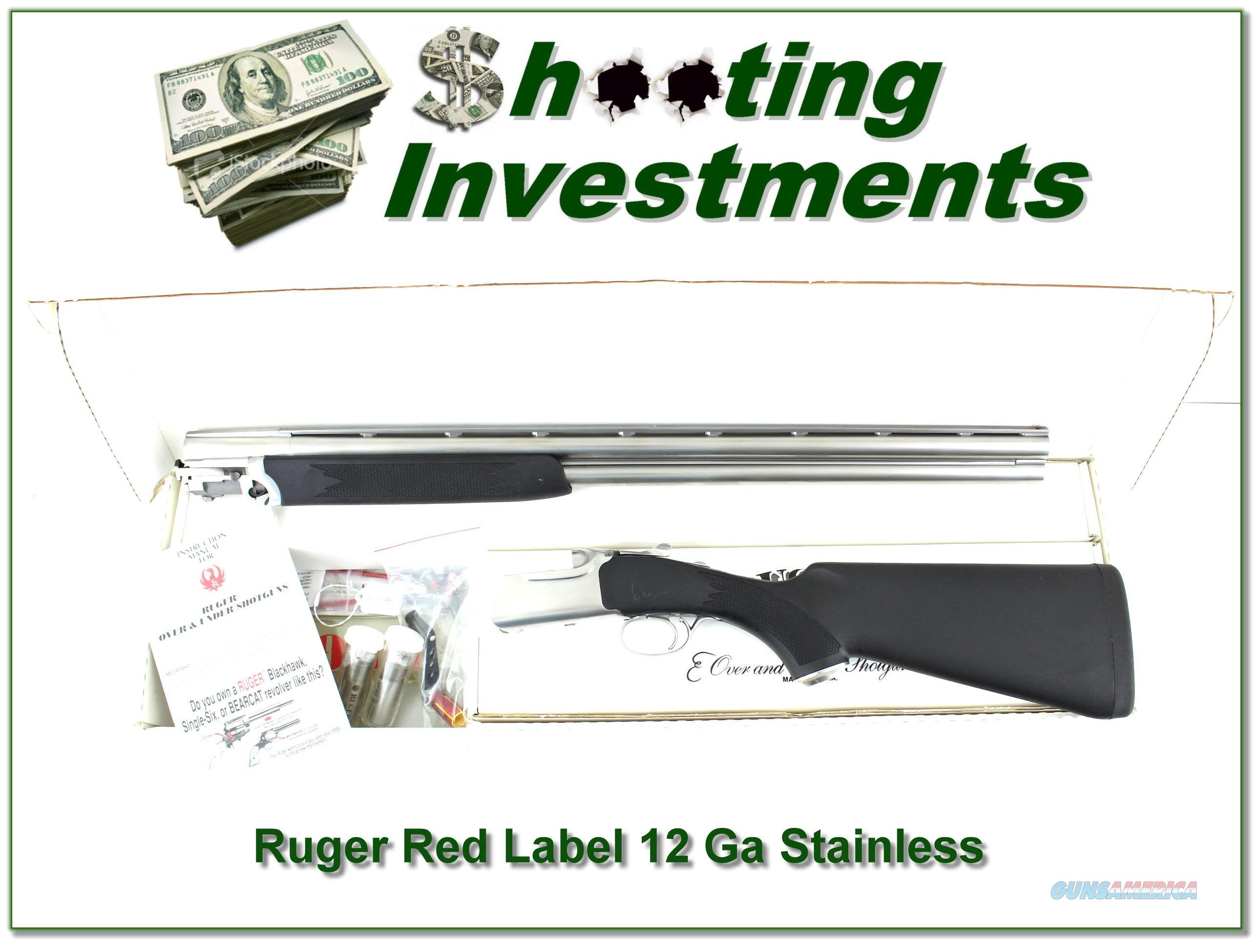 Ruger Red Label All-Weatherby Stainless 28in in BOX!  Guns > Shotguns > Ruger Shotguns > Hunting