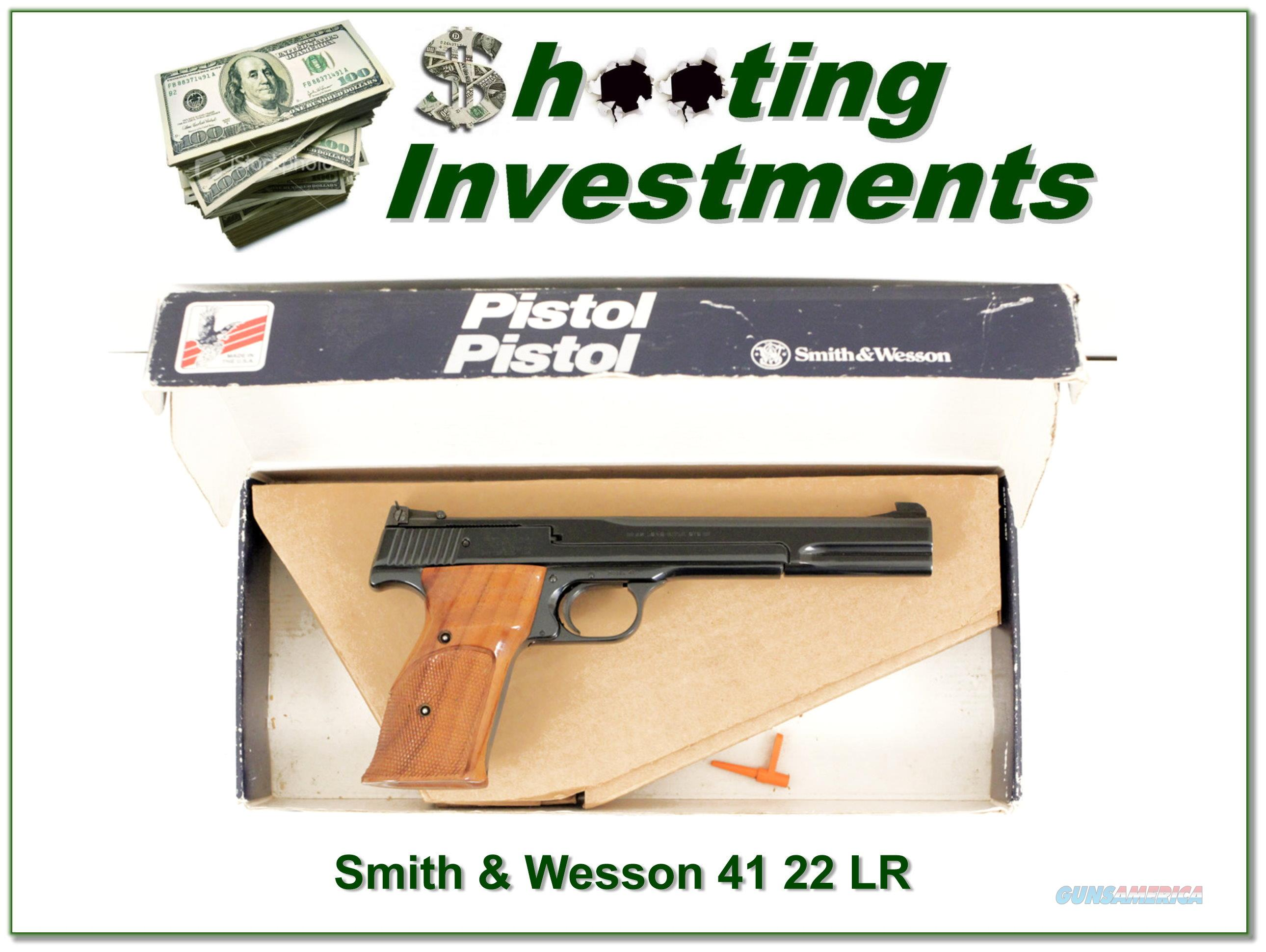Smith & Wesson Model 41 7in Exc Cond  Guns > Pistols > Smith & Wesson Pistols - Autos > .22 Autos