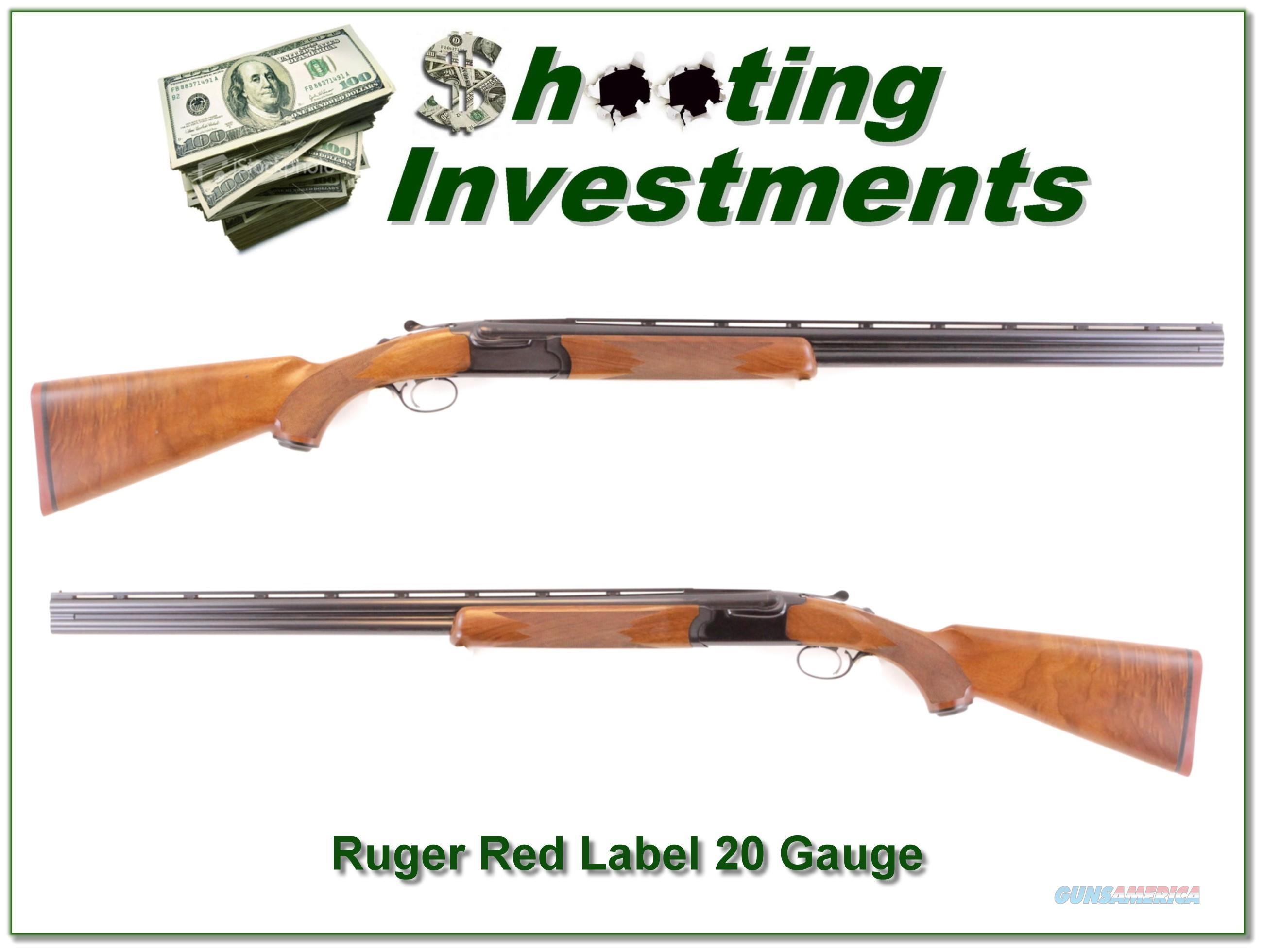 Ruger Red Label 20 Gauge hard to find 28in Full and Mod!  Guns > Shotguns > Ruger Shotguns > Hunting