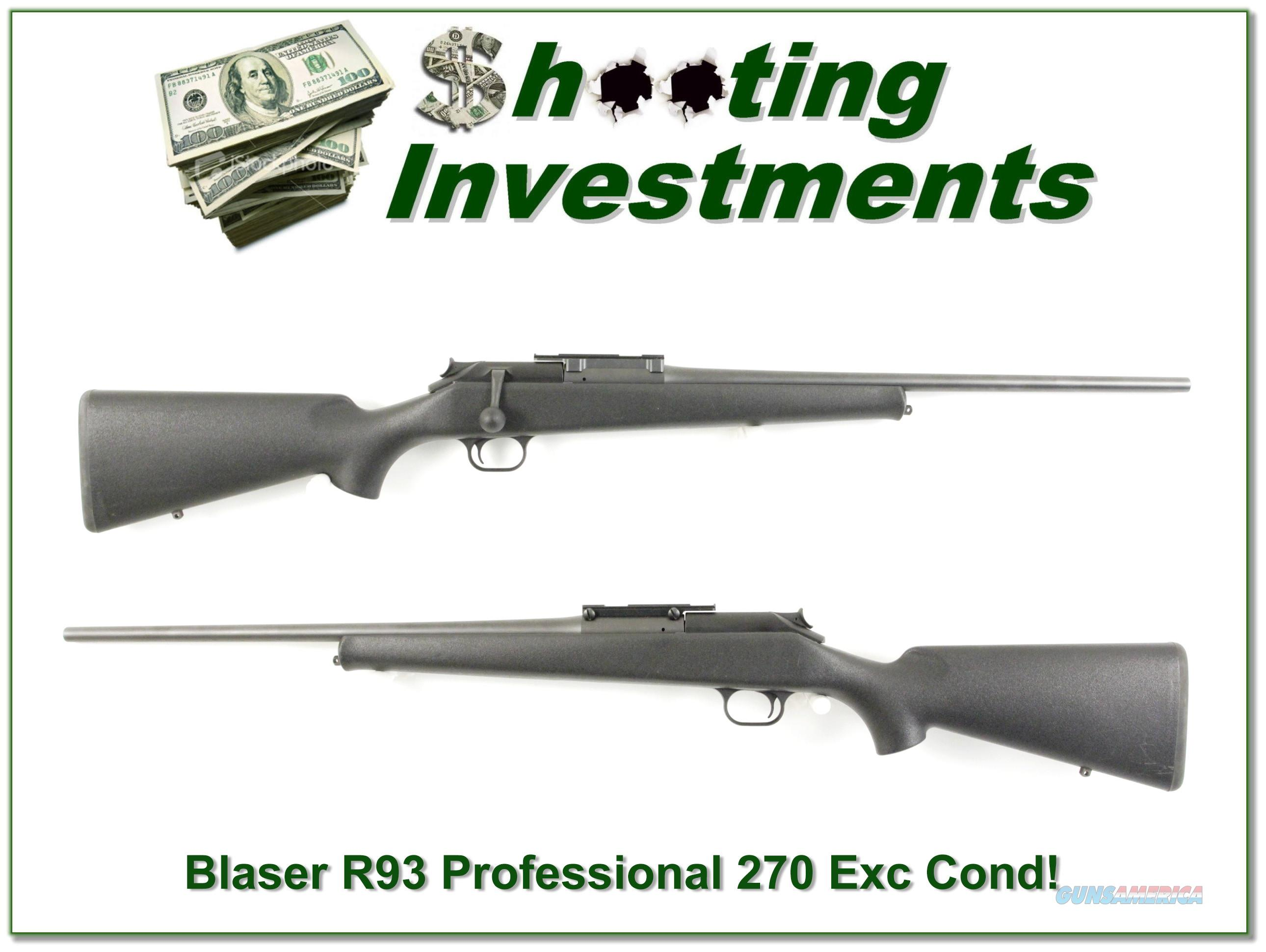 Blaser R93 R 93 Professional 270 Win near new!  Guns > Rifles > Blaser Rifles/Combos/Drillings