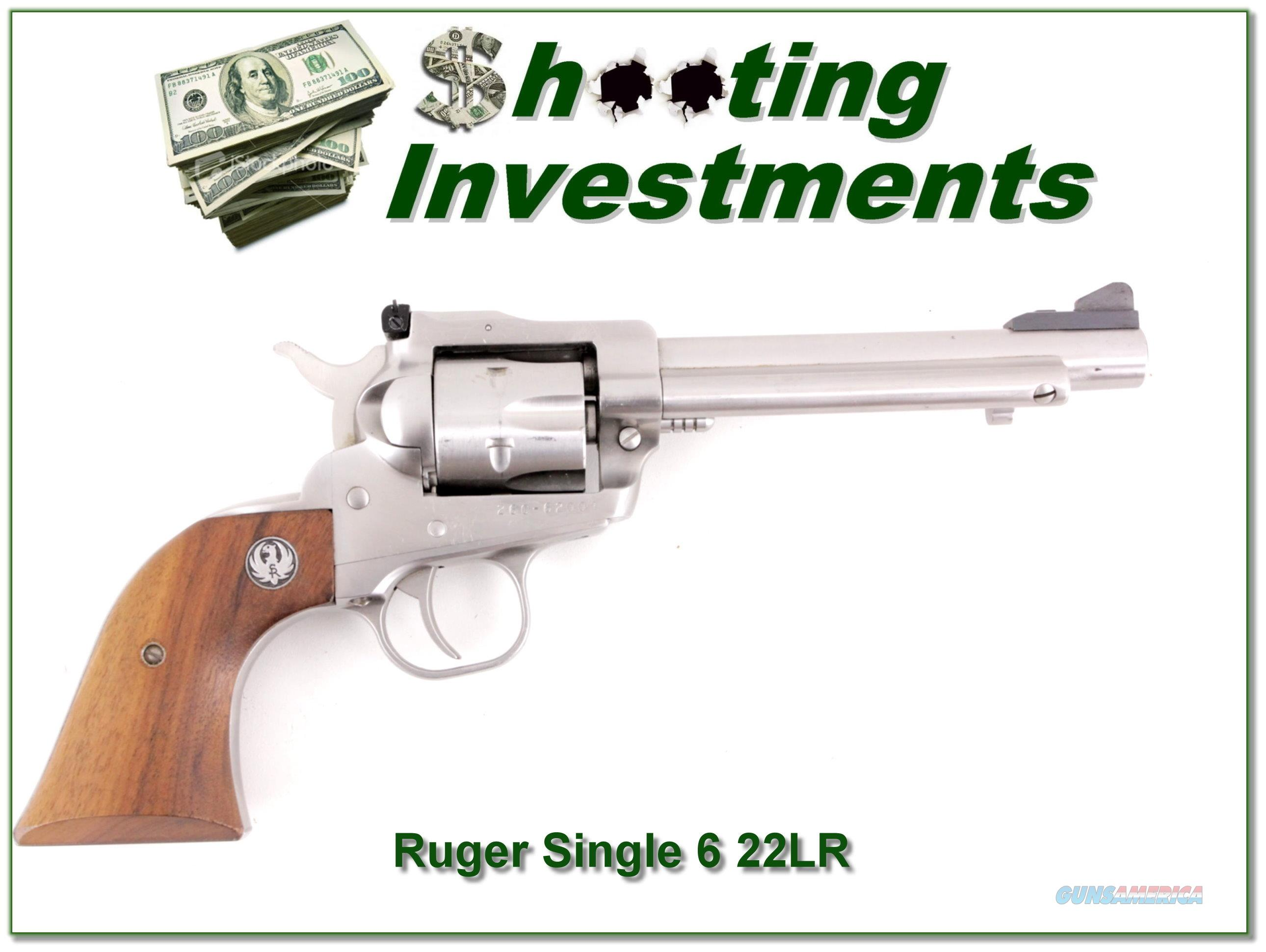 Ruger Single Six New Model 5.5in Stainless 22 LR  Guns > Pistols > Ruger Single Action Revolvers > Single Six Type