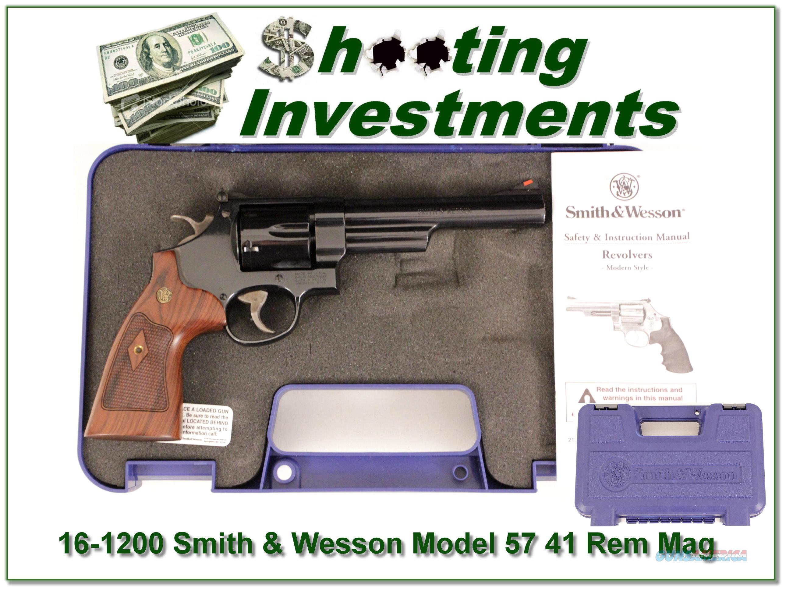 Smith & Wesson 57-6 41 Magnum in case!  Guns > Pistols > Smith & Wesson Revolvers > Full Frame Revolver