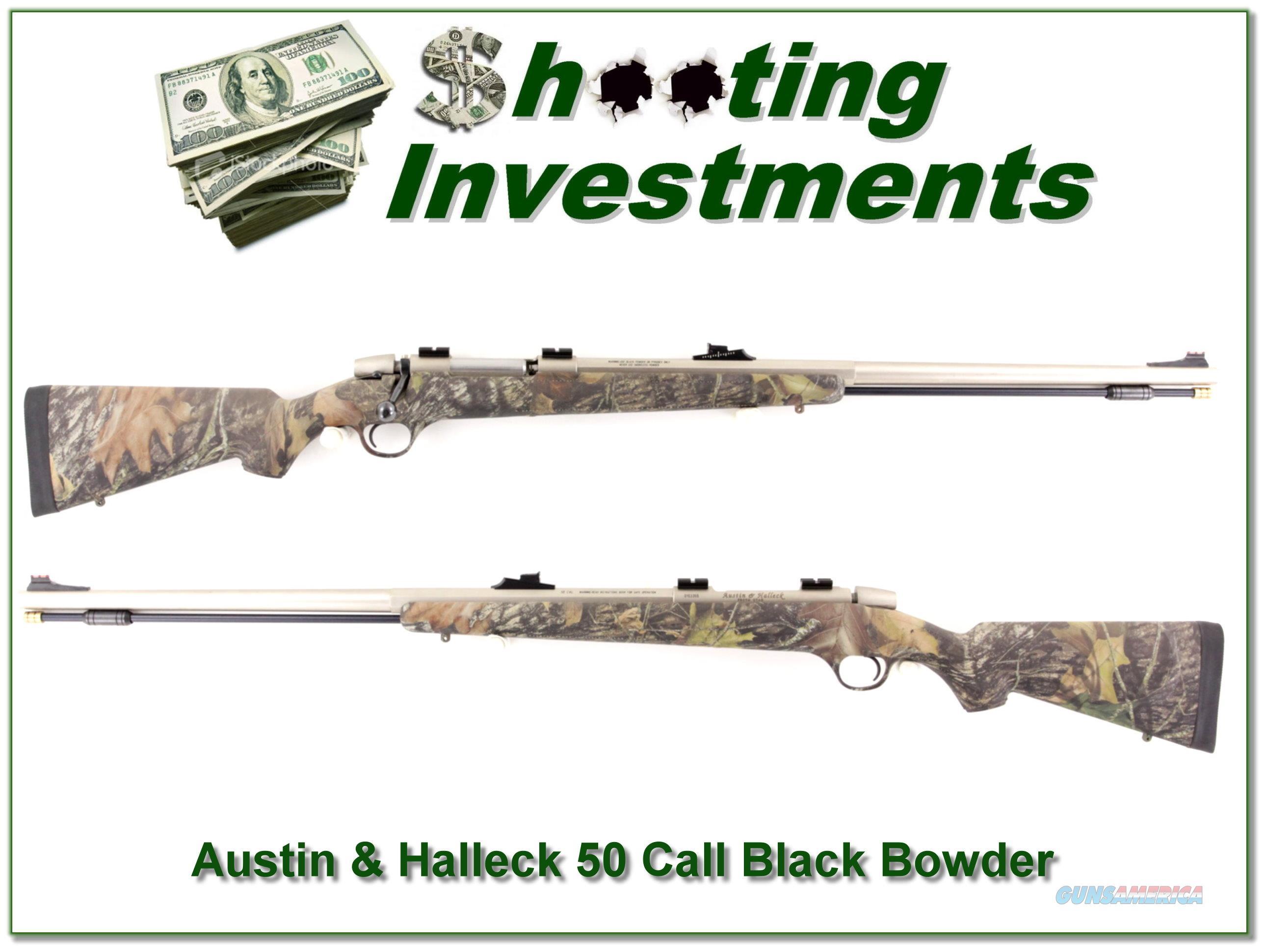 Austin & Halleck Stainless Black Powder 50 Cal  Guns > Rifles > Muzzleloading Modern & Replica Rifles (perc) > Modern Inline
