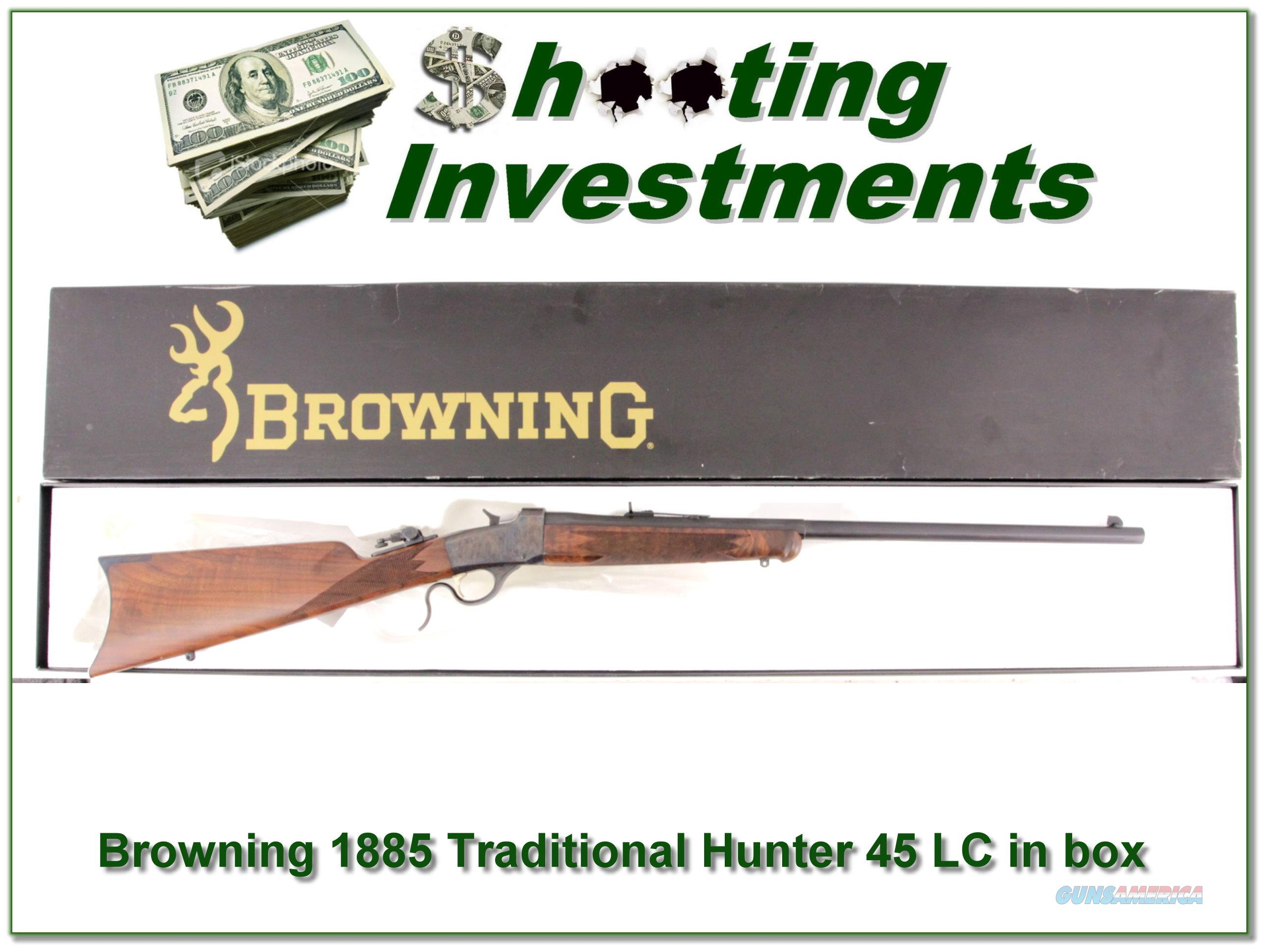 Browning 1885 Traditional Hunter 45 LC NIB  Guns > Rifles > Browning Rifles > Single Shot