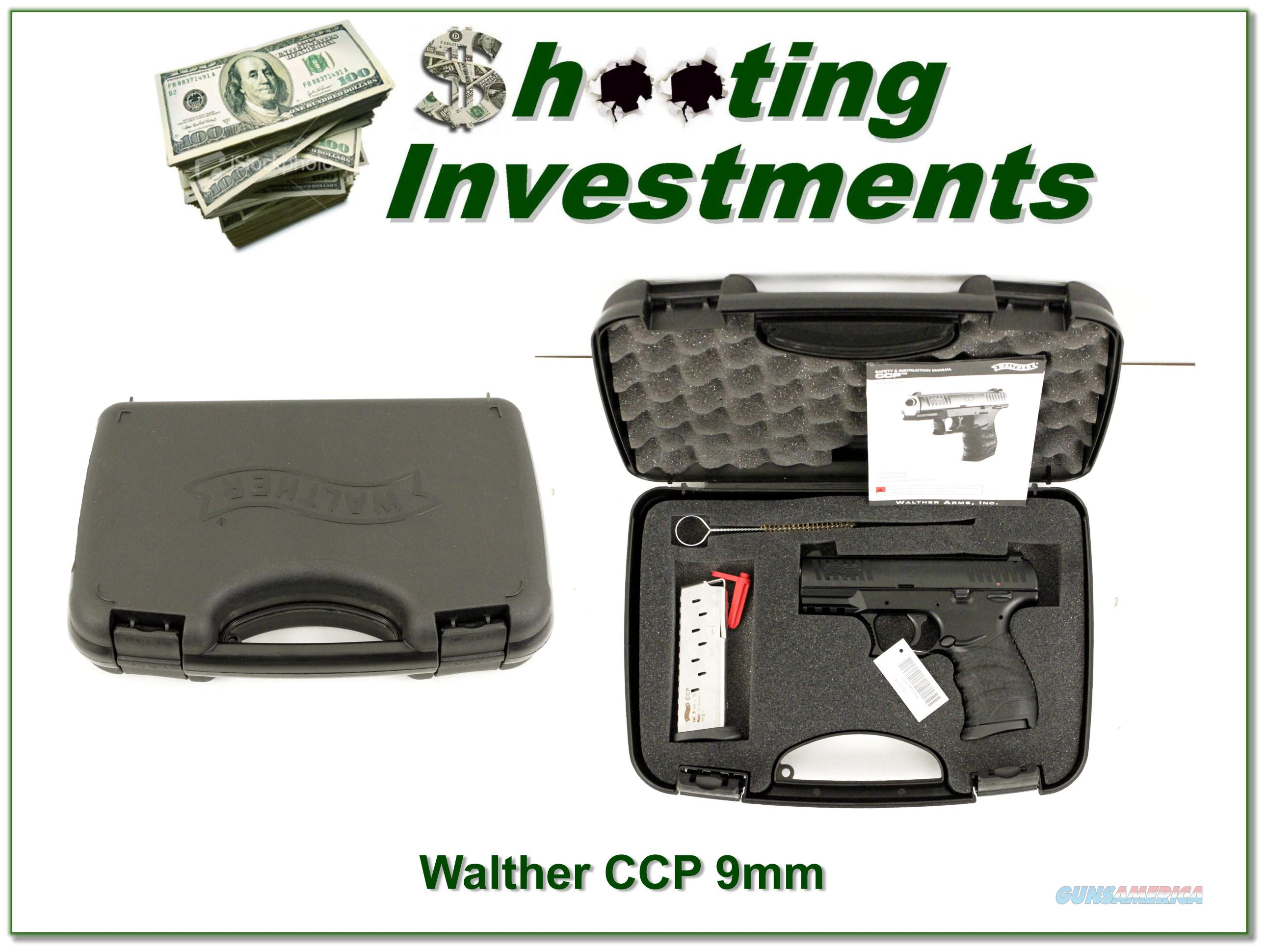 Walter CCP 9mm new, unfired with case, papers and 2 magazines  Guns > Pistols > Walther Pistols > Post WWII > CCP