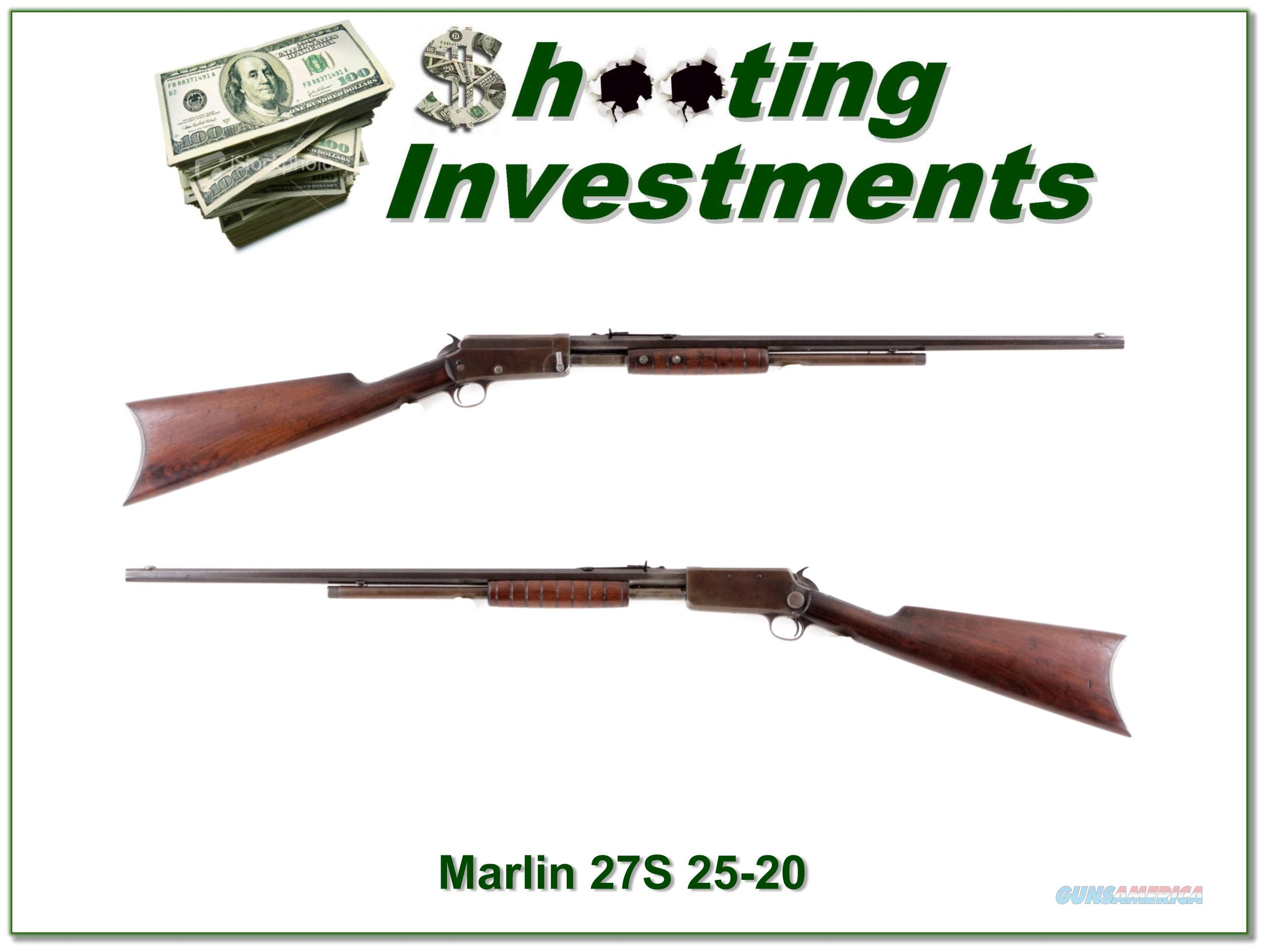 Marlin 27S 25-20 Pump with 24in Octagonal barrel  Guns > Rifles > Marlin Rifles > Modern > Bolt/Pump