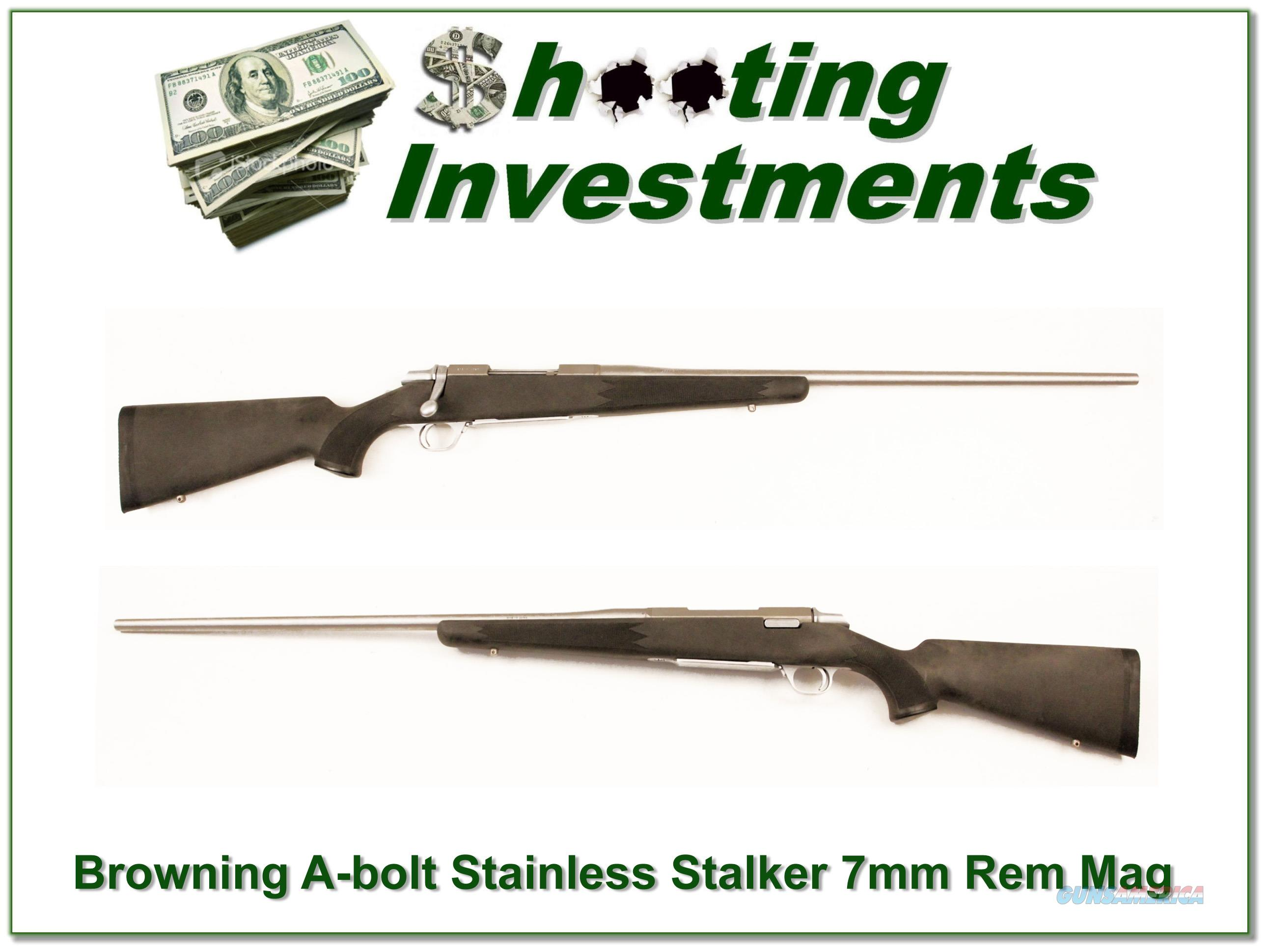 Browning A-bolt Stainless Stalker 26in 7mm Rem Mag  Guns > Rifles > Browning Rifles > Bolt Action > Hunting > Stainless