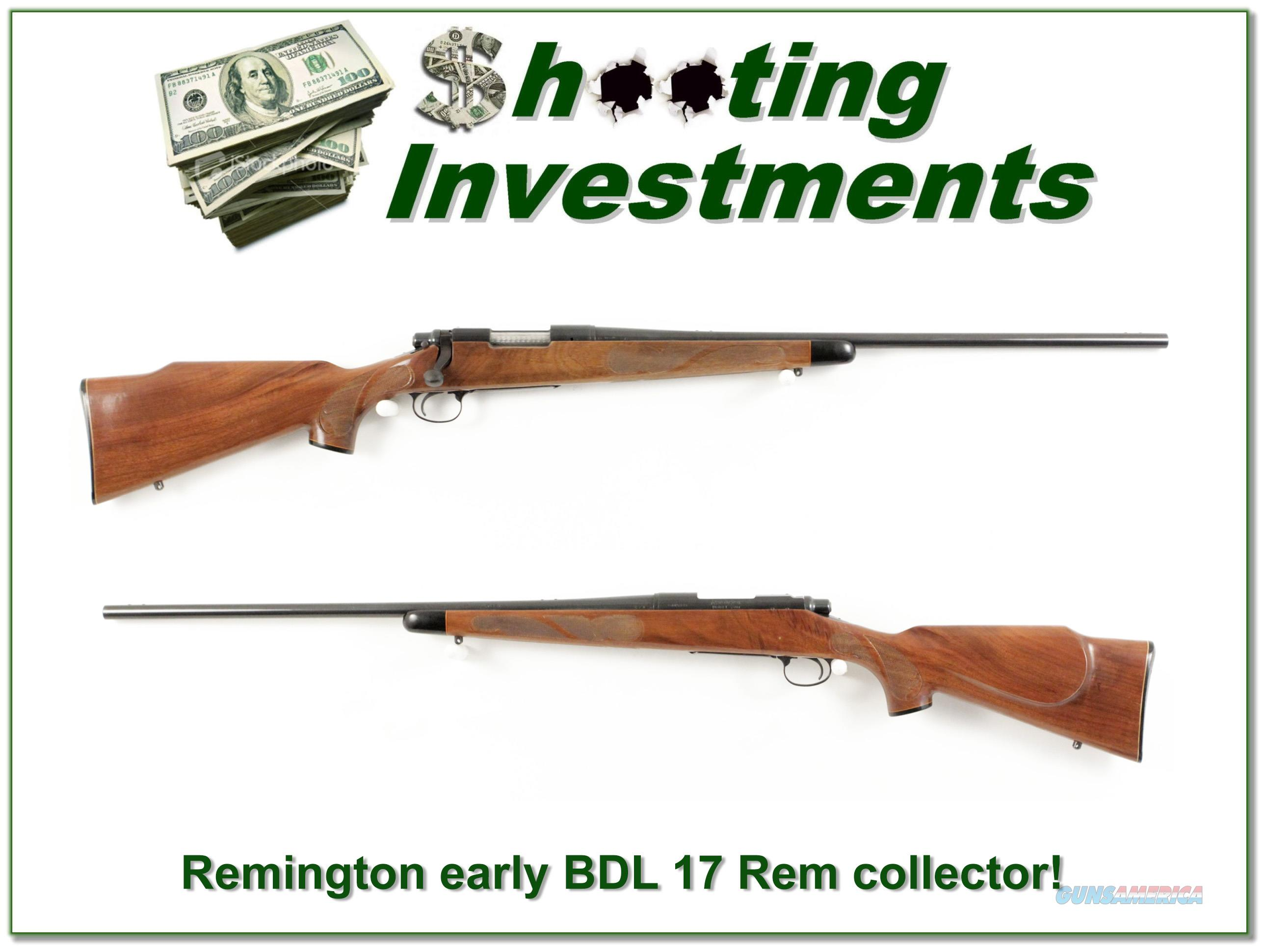 Remington 700 early BDL pressed checkering 17 REM!  Guns > Rifles > Remington Rifles - Modern > Model 700 > Sporting