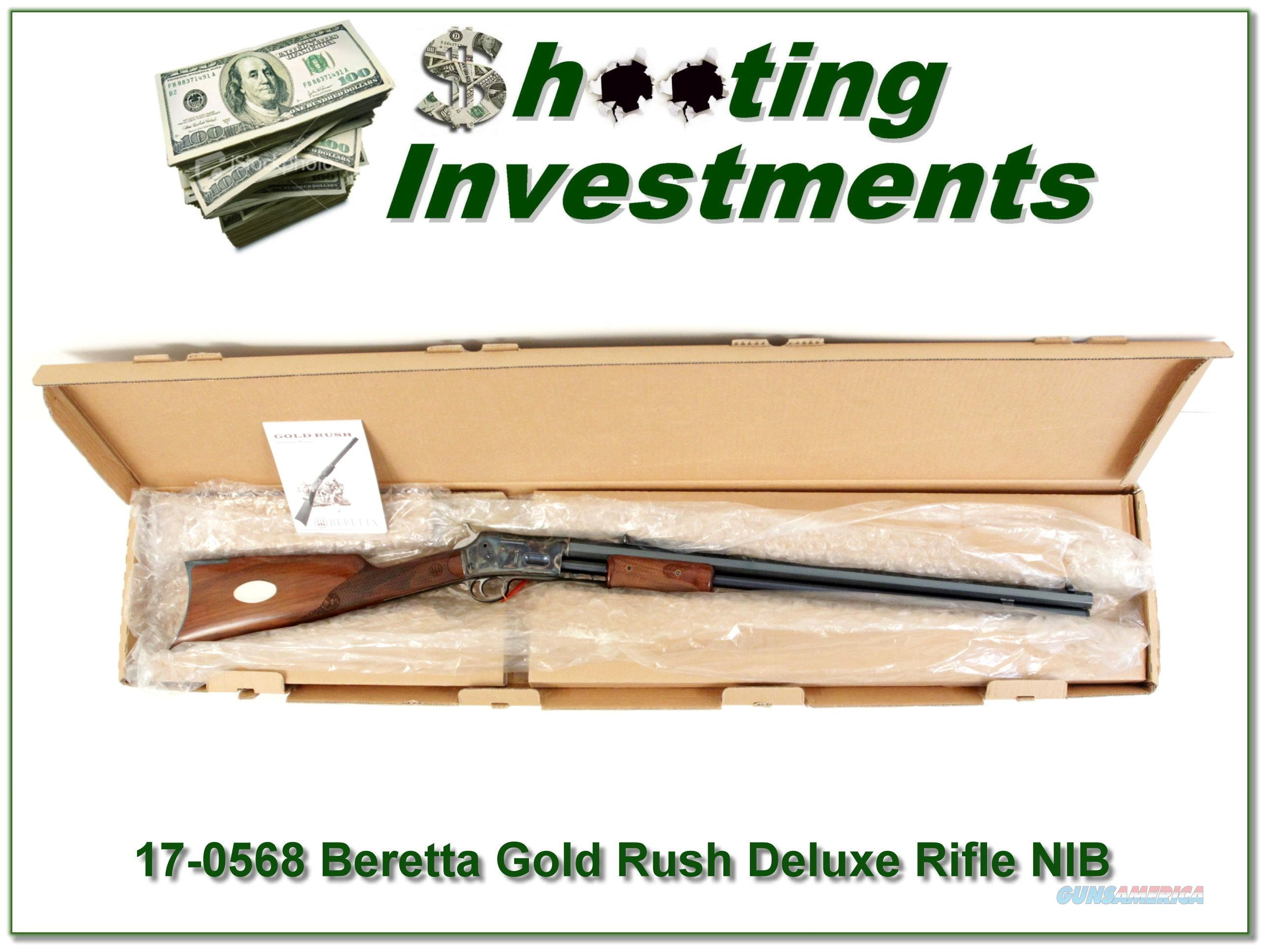 Beretta 7068 Gold Rush Deluxe Rifle NIB 45 Colt  Guns > Rifles > Beretta Rifles > Cowboy
