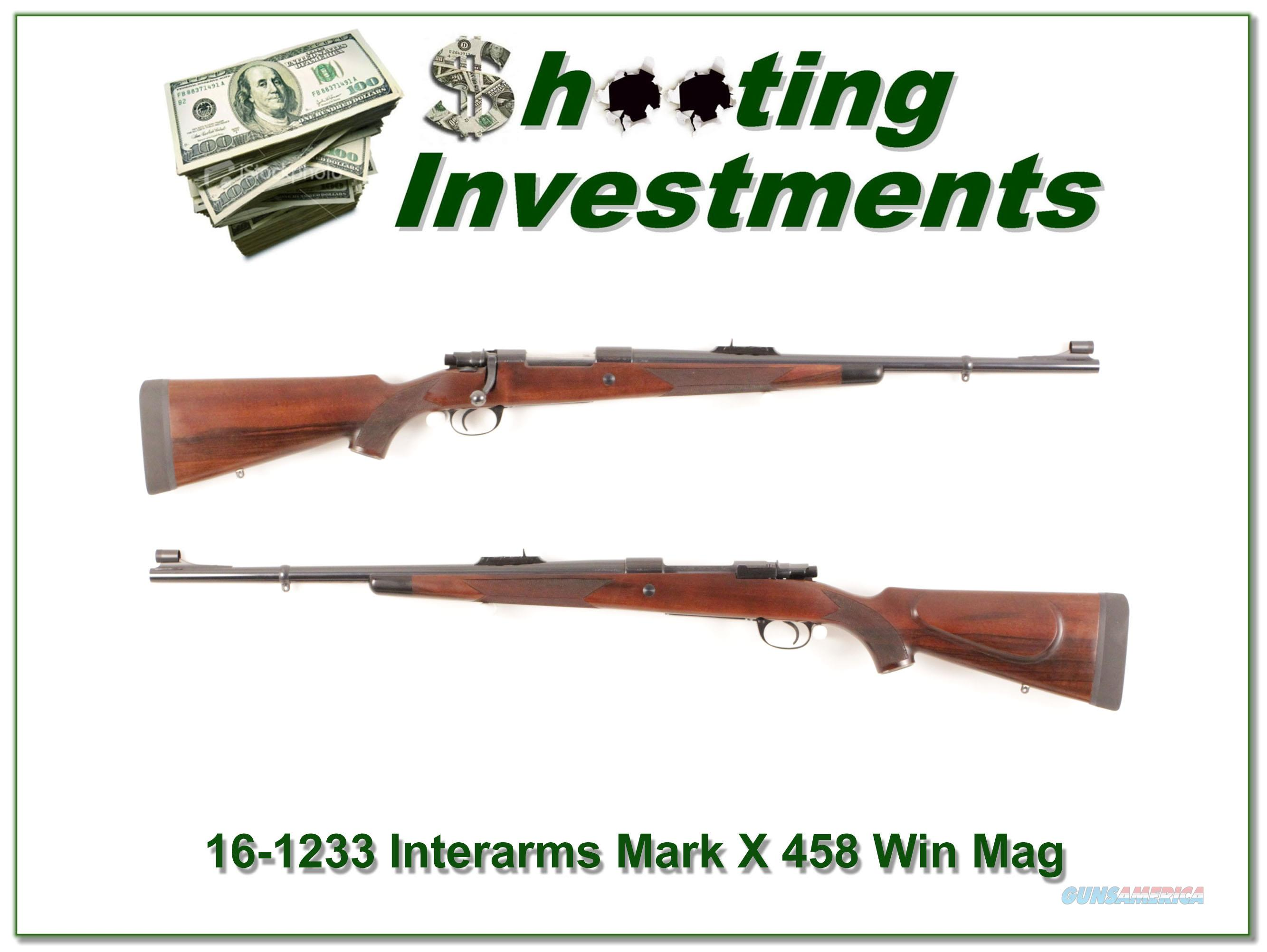 CZ Whitworth Interarms Mark X 458 Win!  Guns > Rifles > IJ Misc Rifles