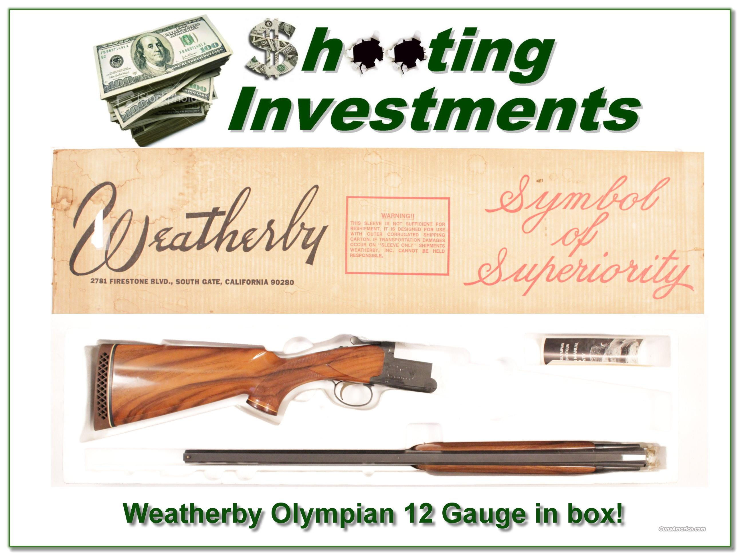 Weatherby Olympian 12 Gauge in box!  Guns > Shotguns > Weatherby Shotguns > Hunting > O/U