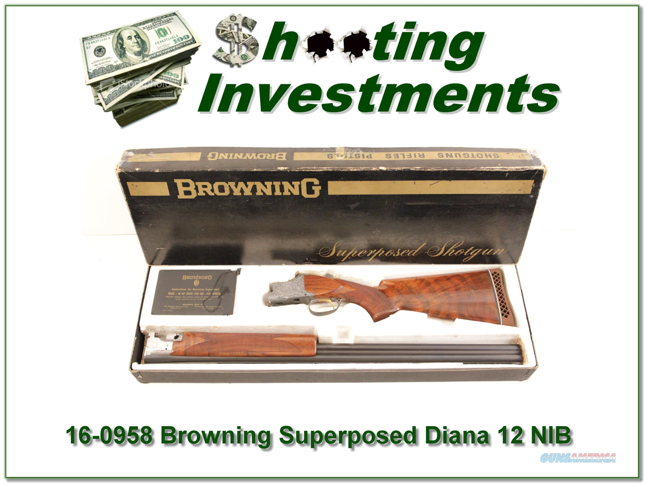 Browning Superposed Diana Grade Lightning Trap NIB!  Guns > Shotguns > Browning Shotguns > Over Unders > Belgian Manufacture