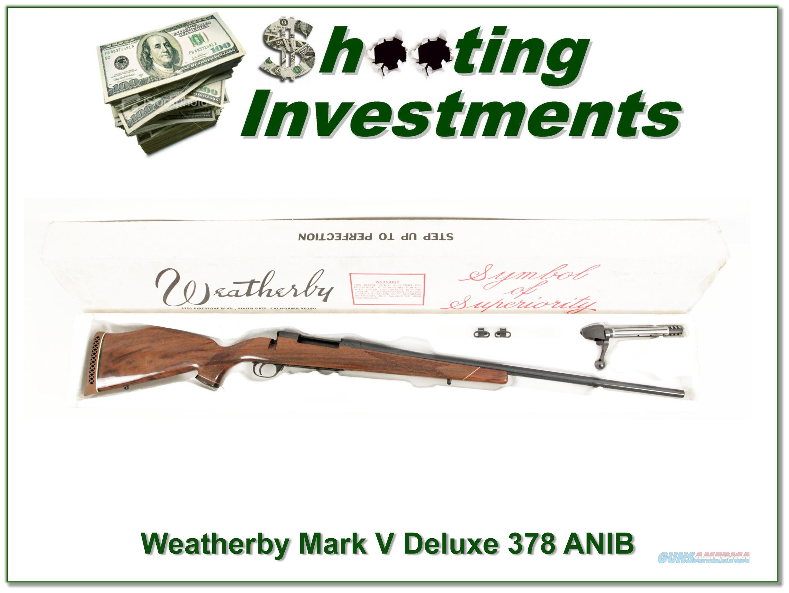 Weatherby Mark V Deluxe 378 Wthy in box No Break!  Guns > Rifles > Weatherby Rifles > Sporting