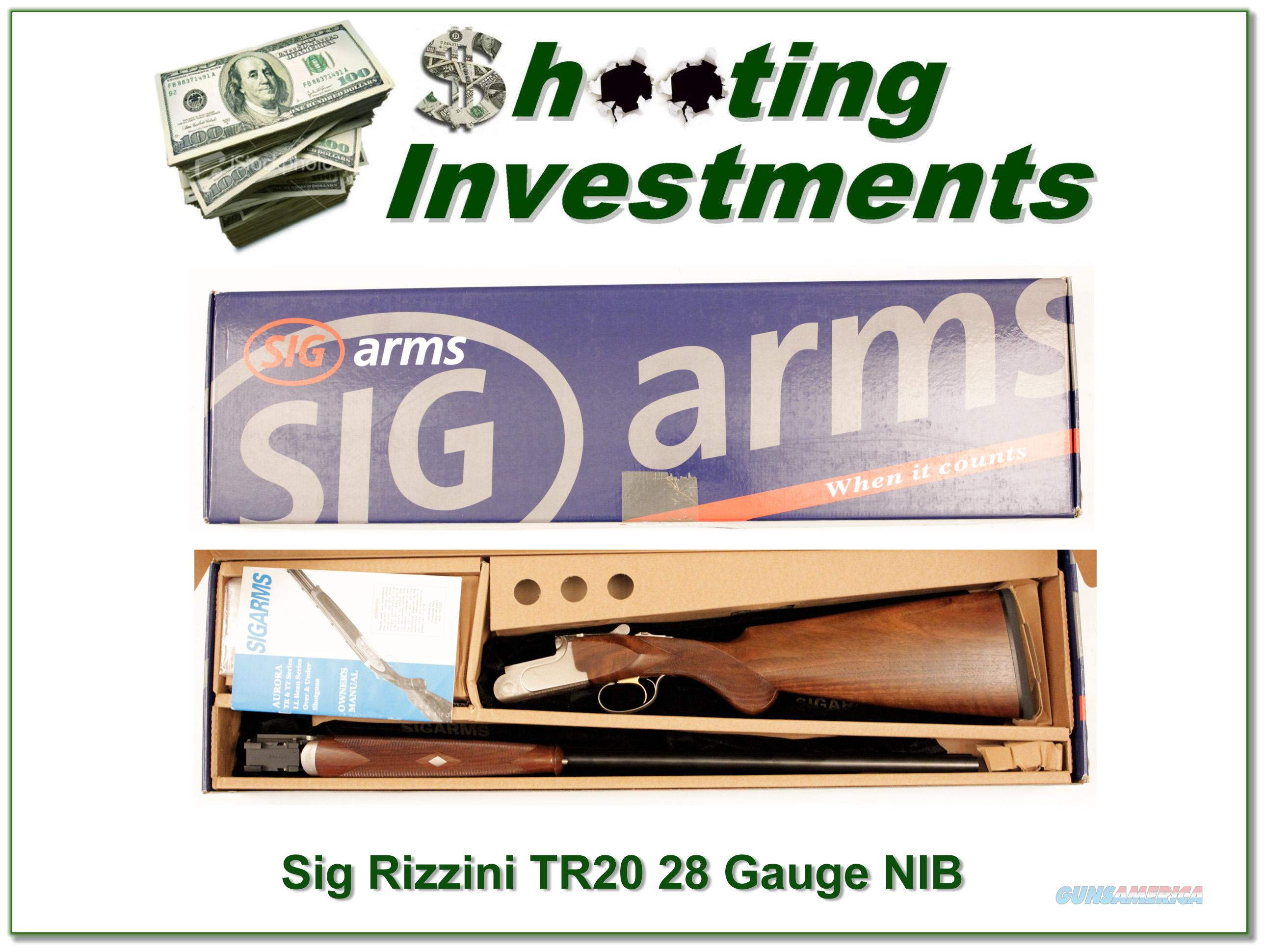 Sig Arms Rizzini TR20 28 Gauge NIB never fired   Guns > Shotguns > Sig - Sauer/Sigarms Shotguns