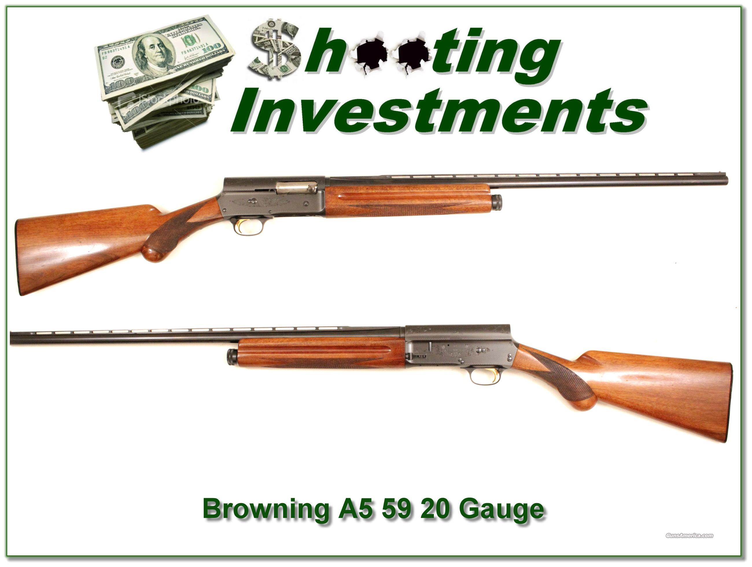 Browning A5 20 gauge '59 Belgium Vent Rib  Guns > Shotguns > Browning Shotguns > Autoloaders > Hunting