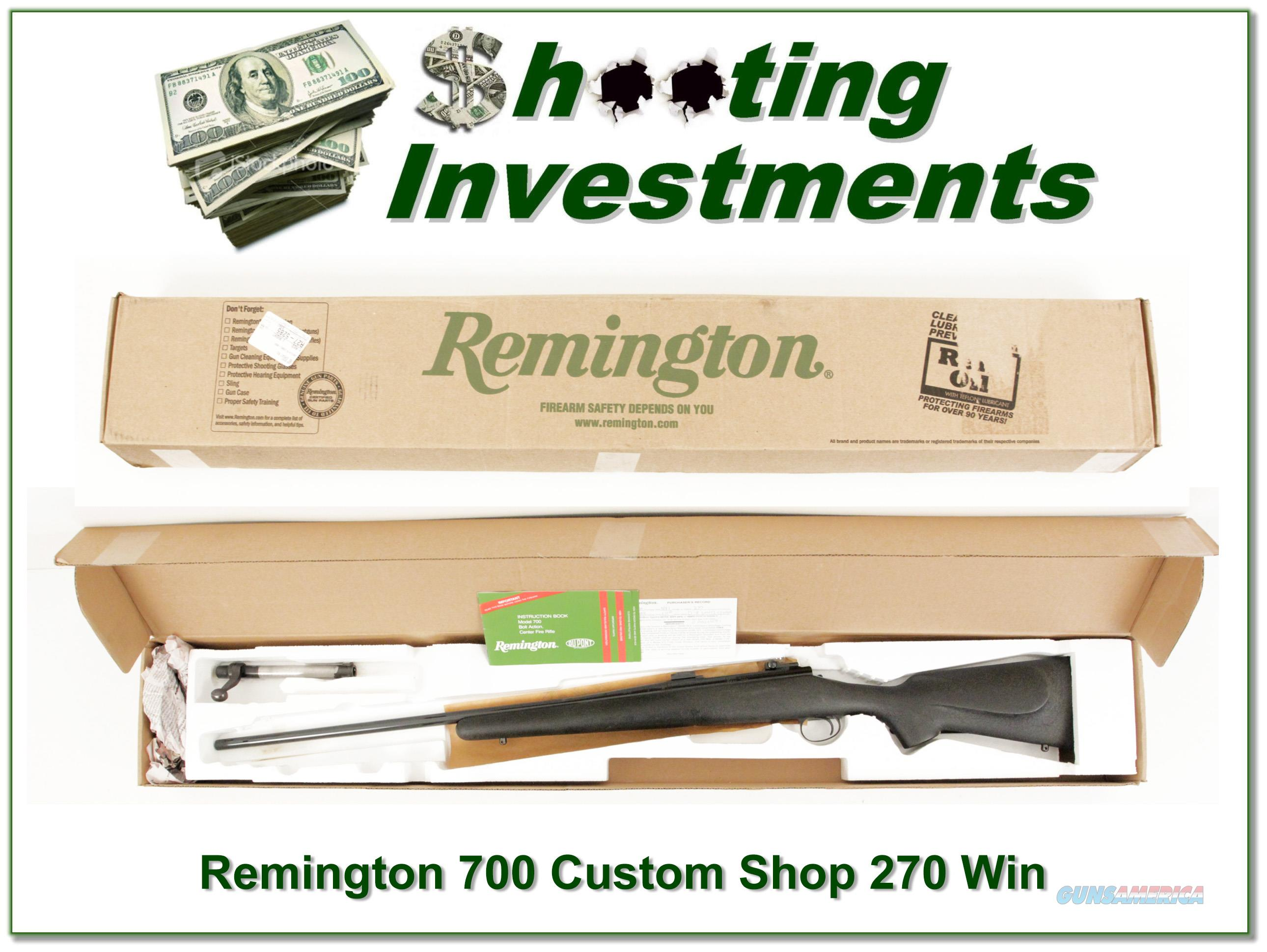 Remington 700 Custom Shop 270 Winchester  Guns > Rifles > Remington Rifles - Modern > Model 700 > Sporting