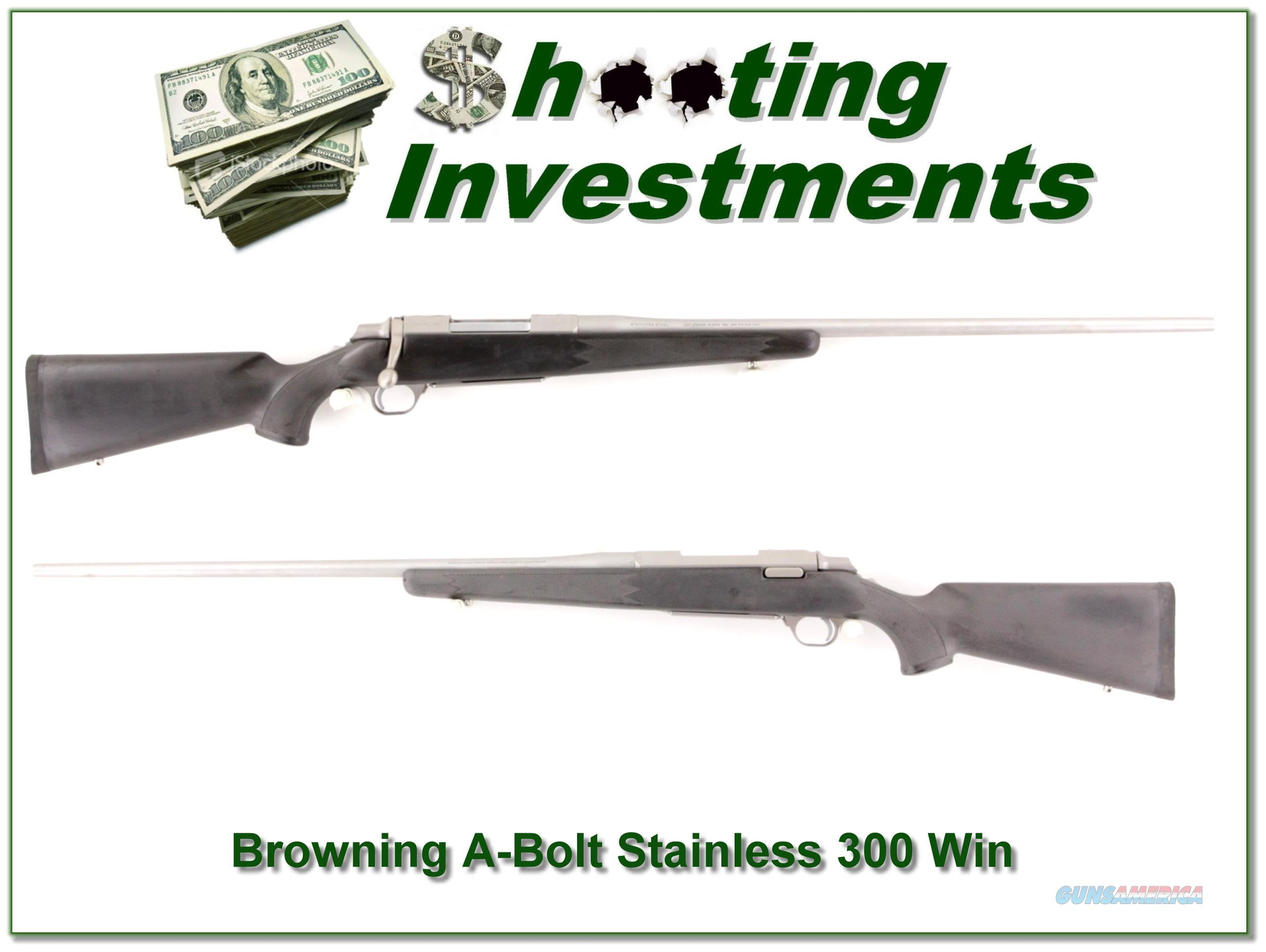 Browning A-Bolt II Stainless Stalker 26in 300 Win Mag  Guns > Rifles > Browning Rifles > Bolt Action > Hunting > Stainless