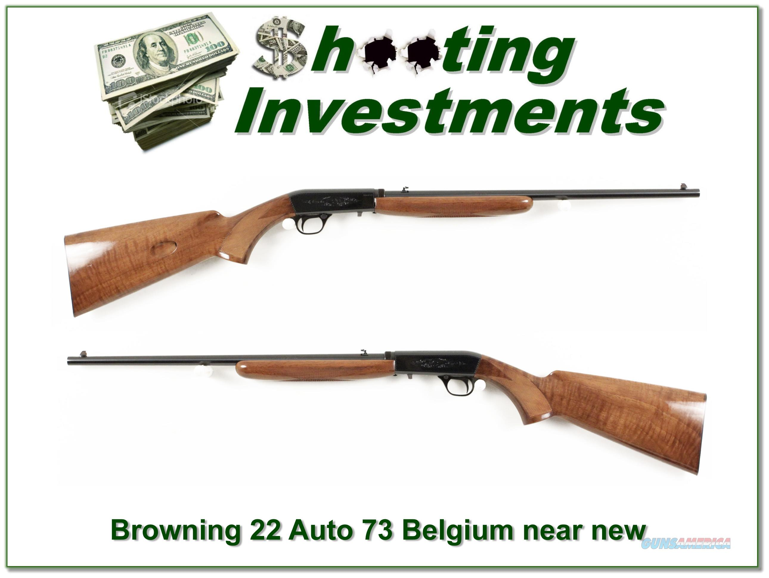 Browning ATD 22 Auto 73 Belgium collector!  Guns > Rifles > Browning Rifles > Semi Auto > Hunting