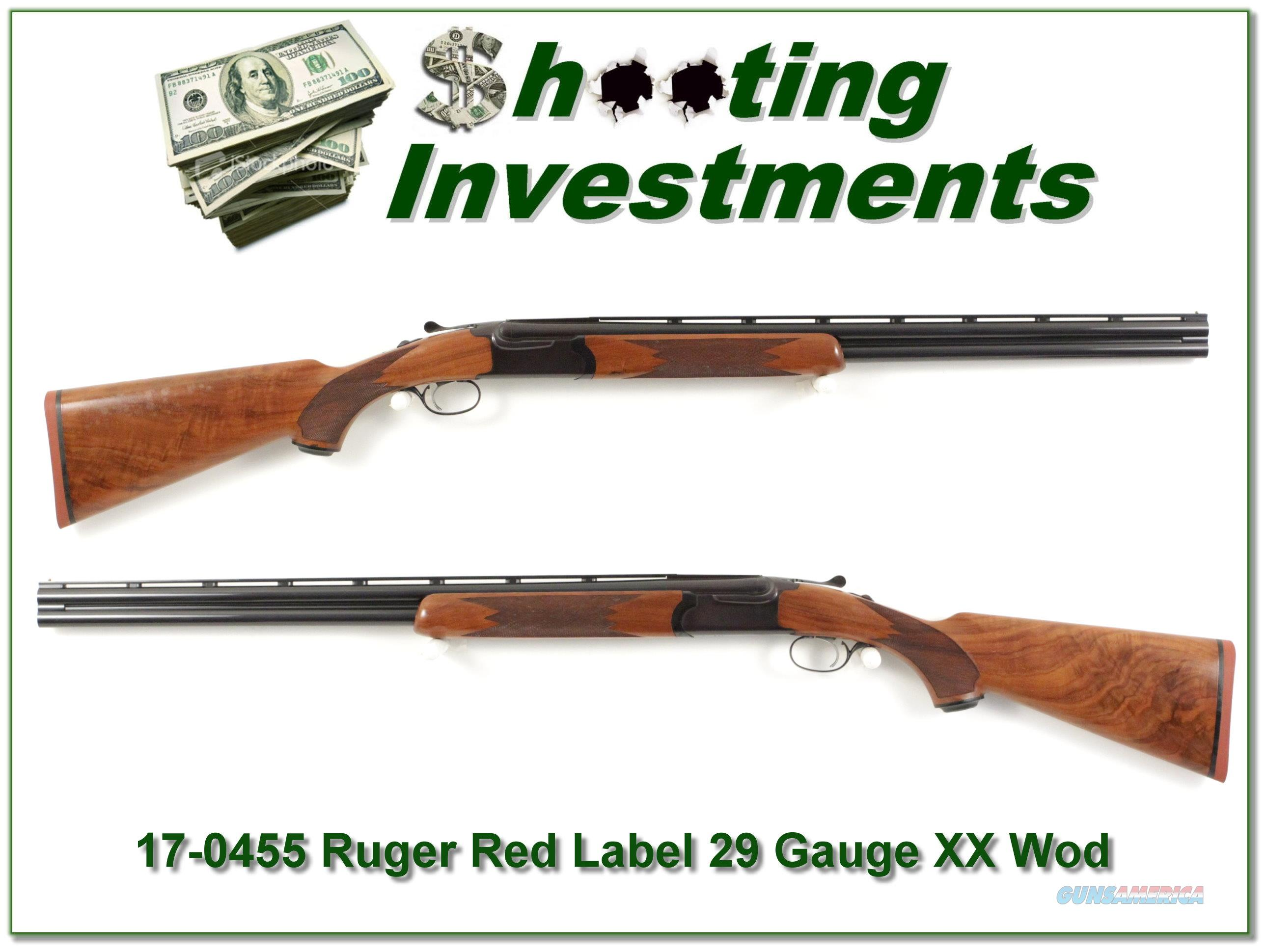 Ruger Red Label 20 Gauge XX Wood mint 26in Skeet & Skeet  Guns > Shotguns > Ruger Shotguns > Hunting